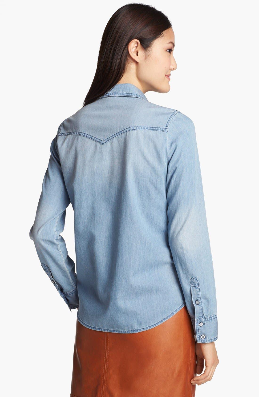 Alternate Image 2  - Halogen® Western Chambray Shirt