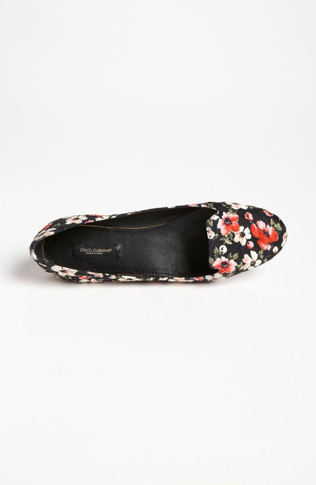 Alternate Image 3  - Dolce&Gabbana Floral Flat