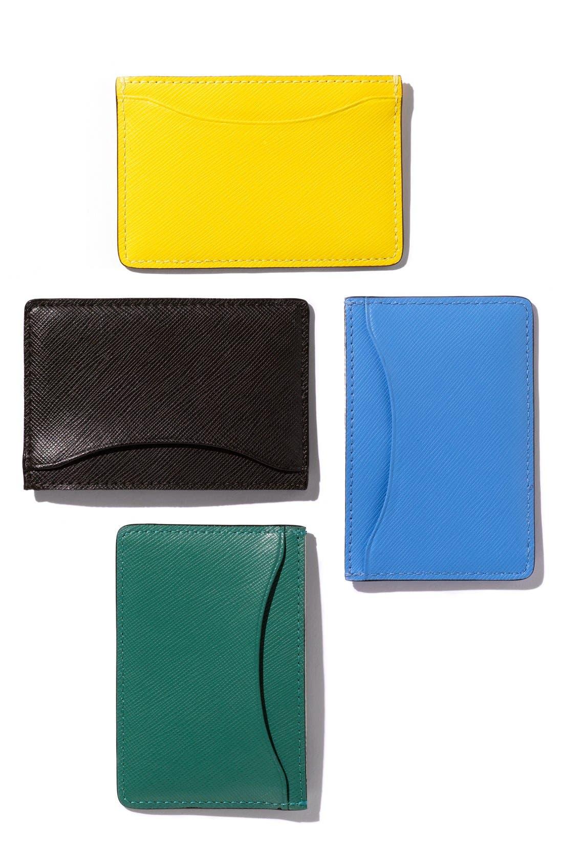 Alternate Image 2  - Jack Spade Crosshatched Leather Card Holder