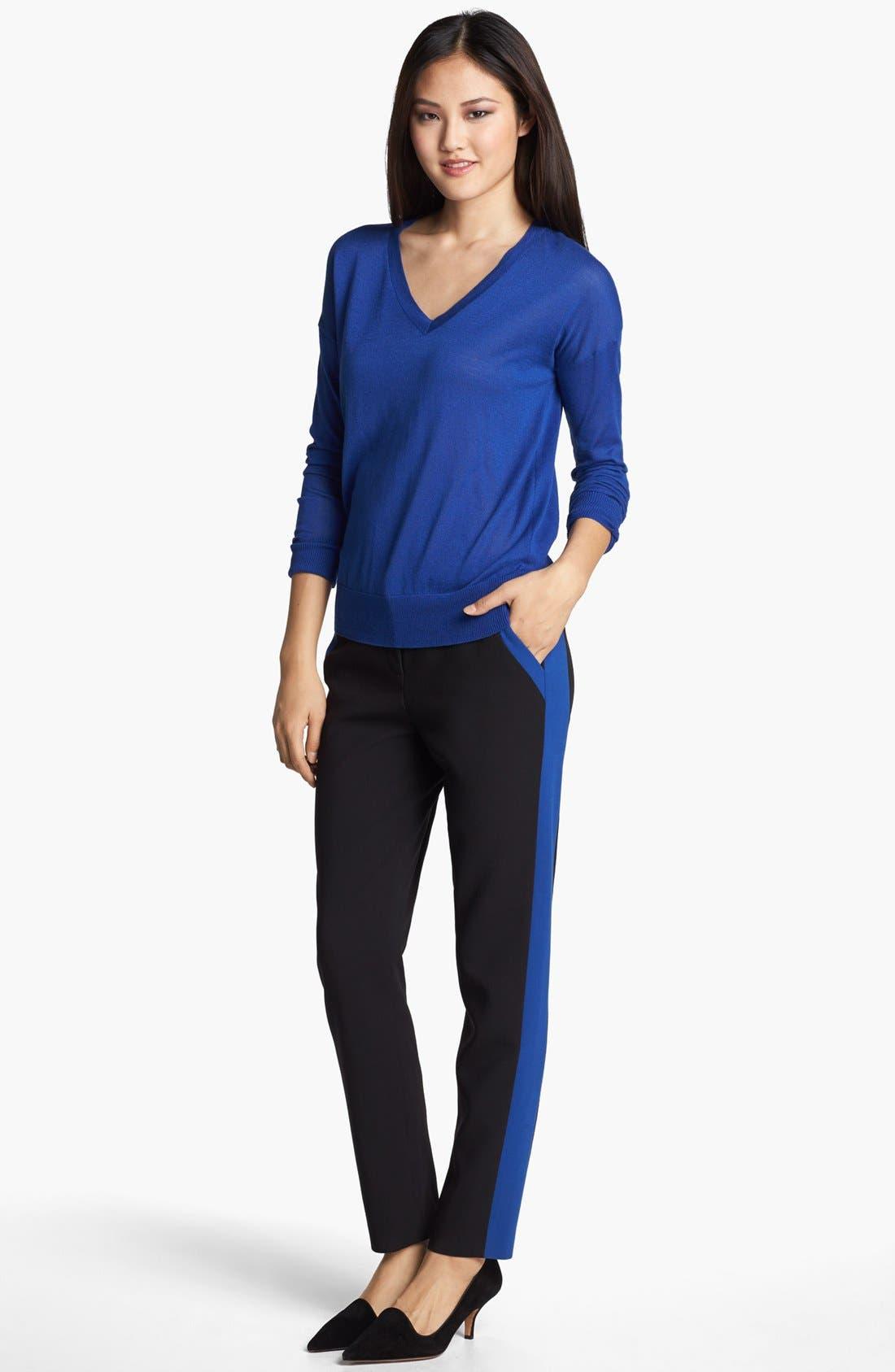 Alternate Image 2  - Halogen® 'Quinn' Tuxedo Skinny Ankle Pants