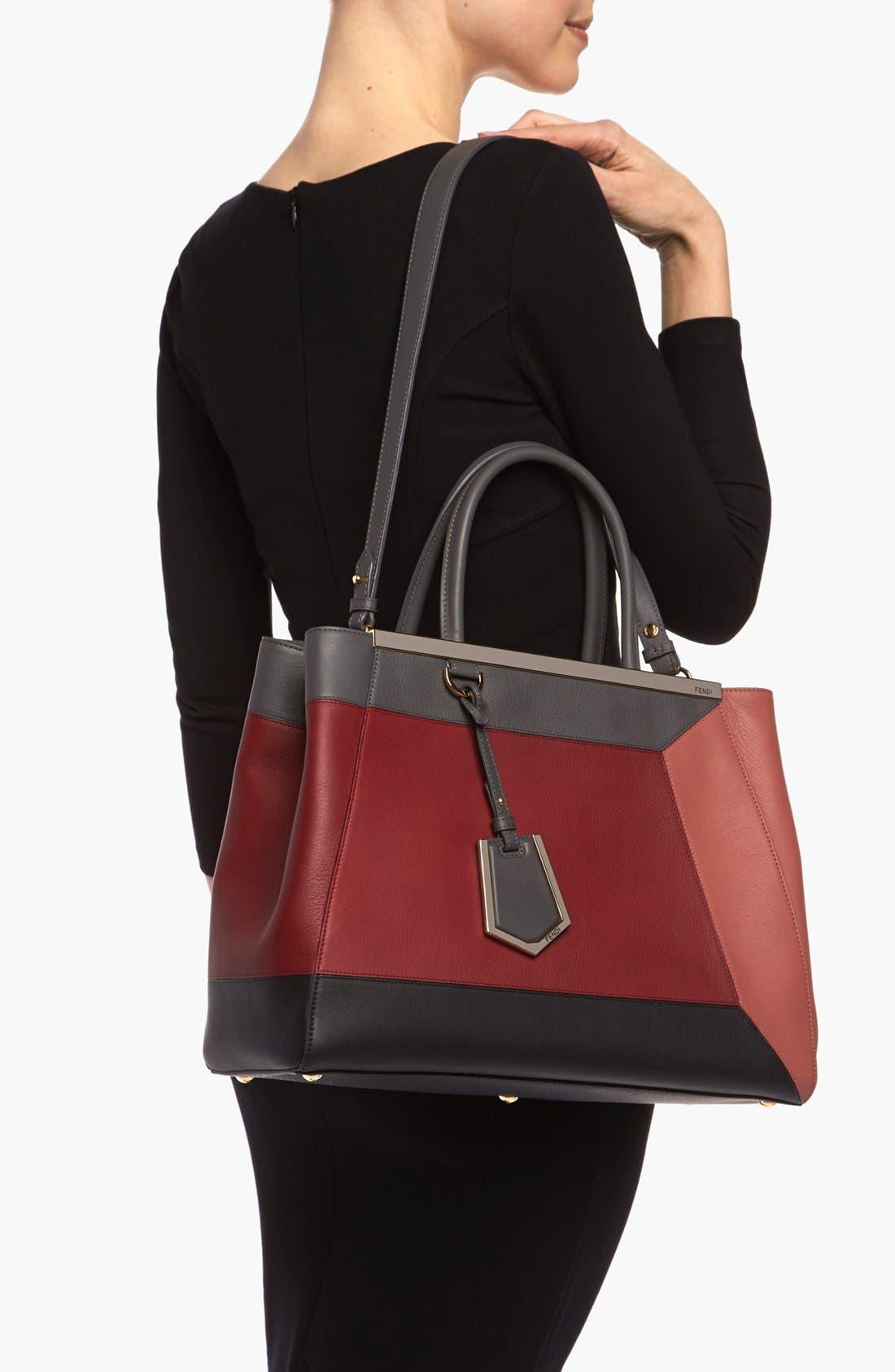Alternate Image 2  - Fendi 'Geometric 2Jours - Medium' Leather Shopper