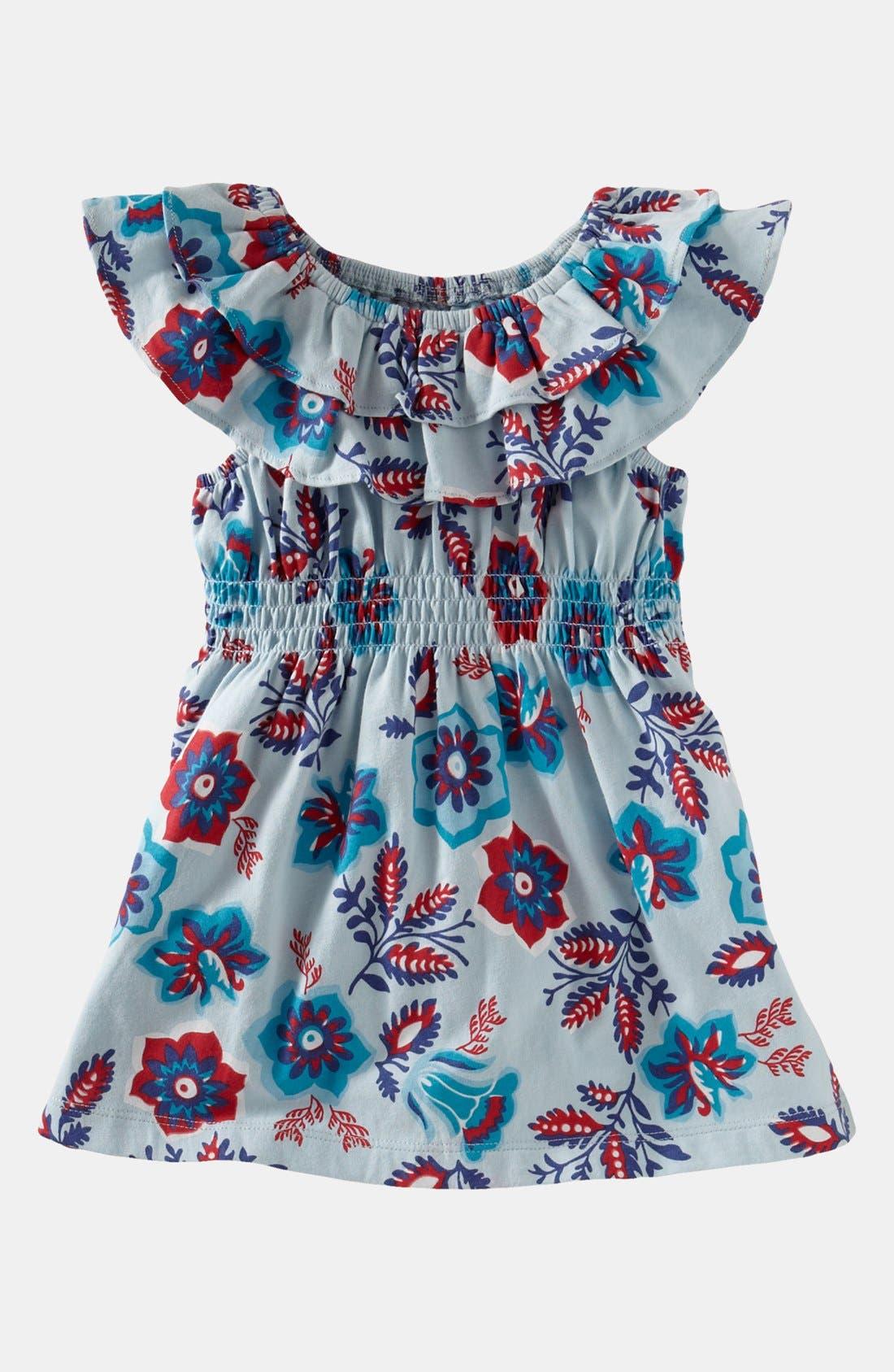 Main Image - Tea Collection 'Sea Gypsy' Ruffle Tunic (Little Girls & Big Girls)