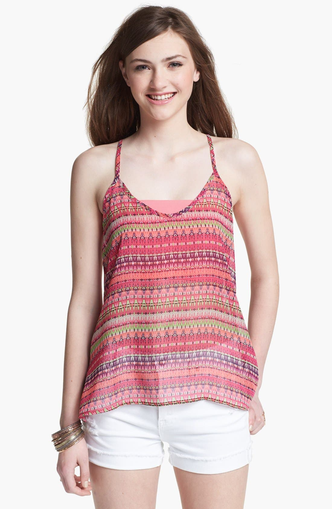 Main Image - Liberty Love Racerback Camisole (Juniors) (Online Only)