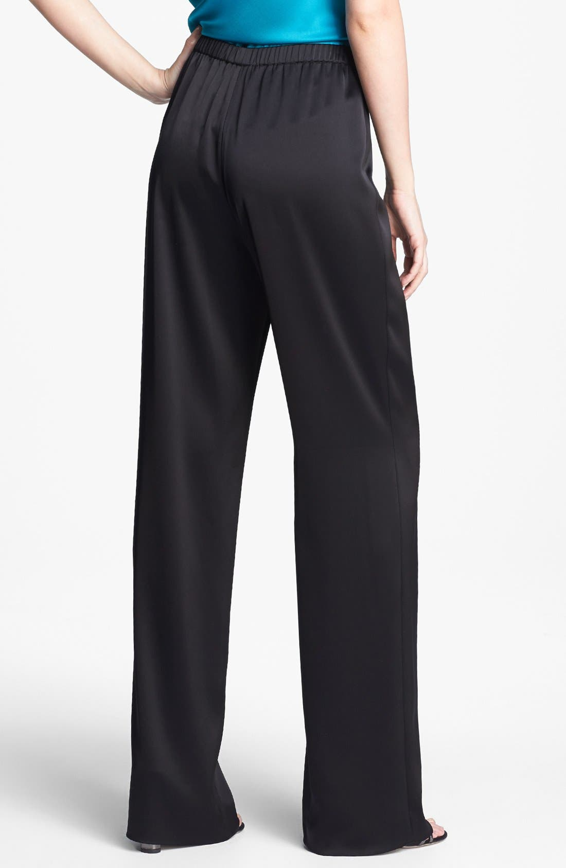 Alternate Image 4  - St. John Collection 'Kate' Liquid Satin Pants