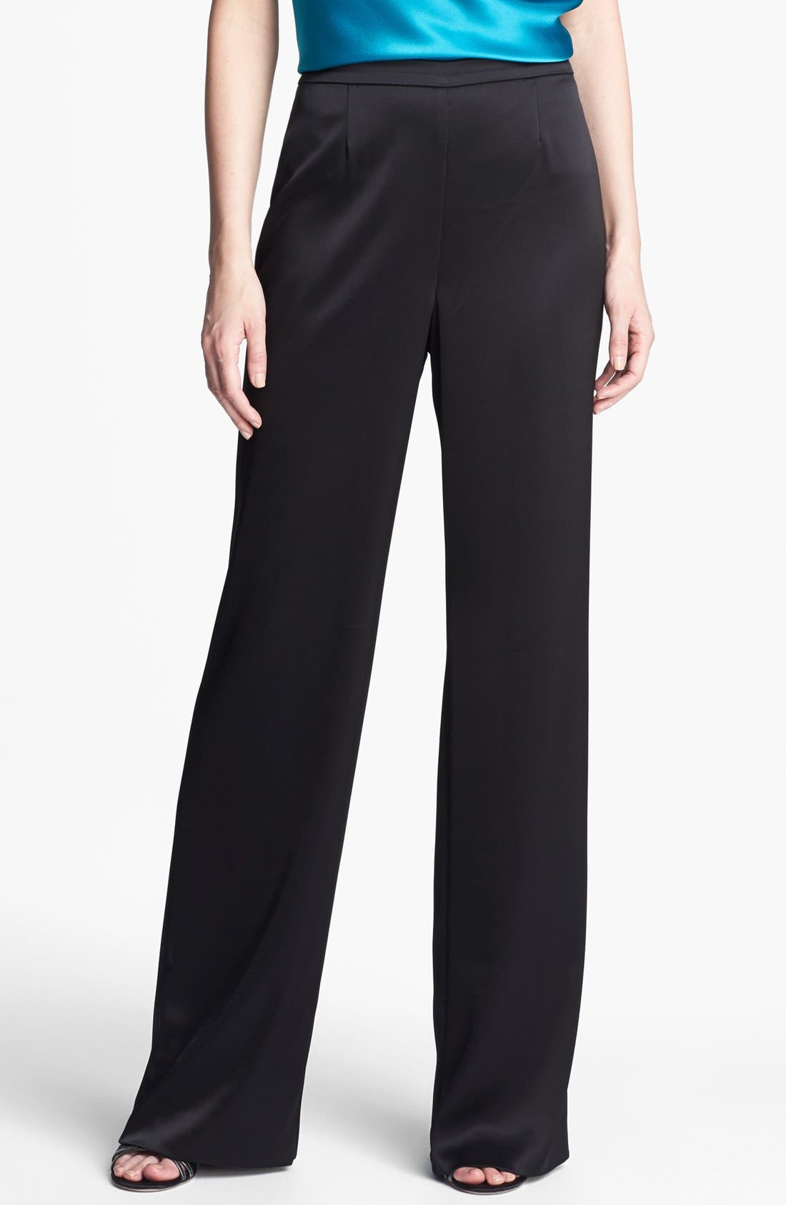 Main Image - St. John Collection 'Kate' Liquid Satin Pants