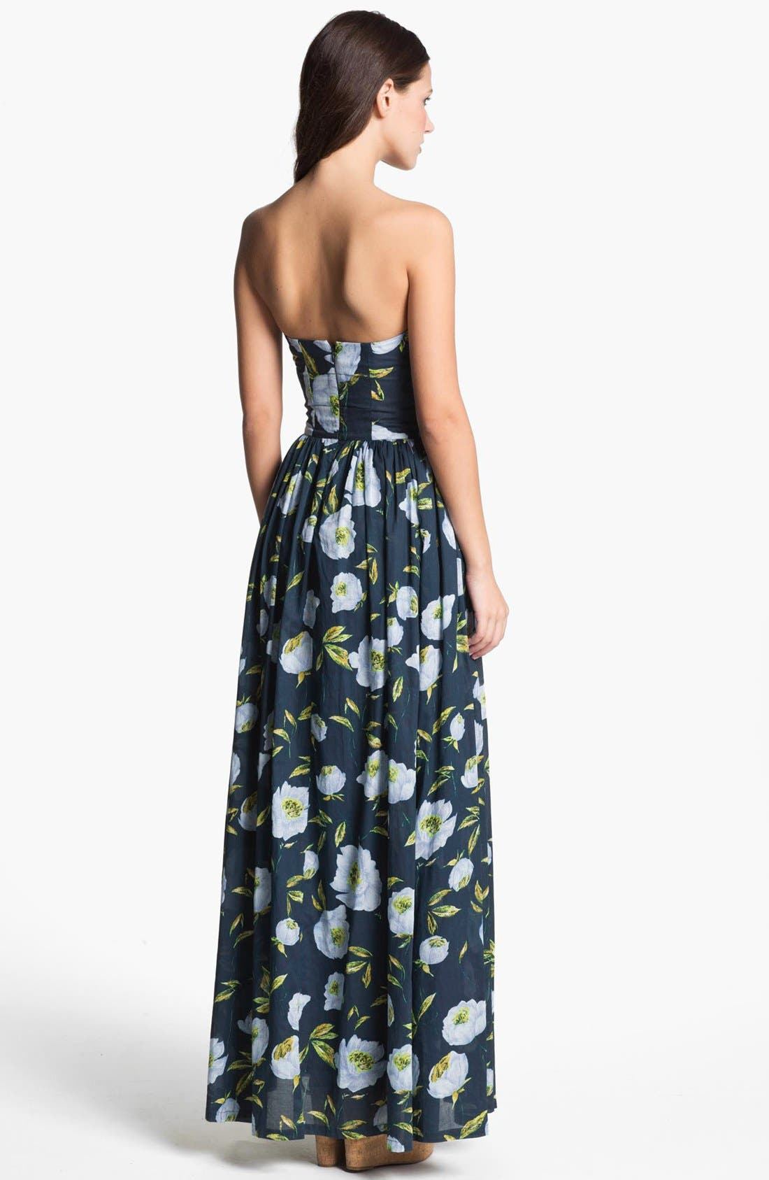 Alternate Image 2  - French Connection 'Spring Bloom' Cotton Maxi Dress