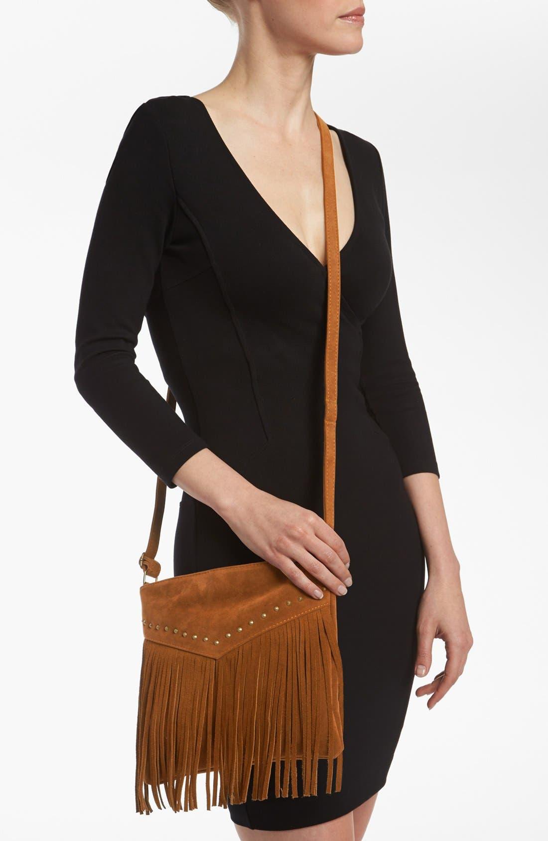 Alternate Image 2  - BP. Studded Fringe Crossbody Bag