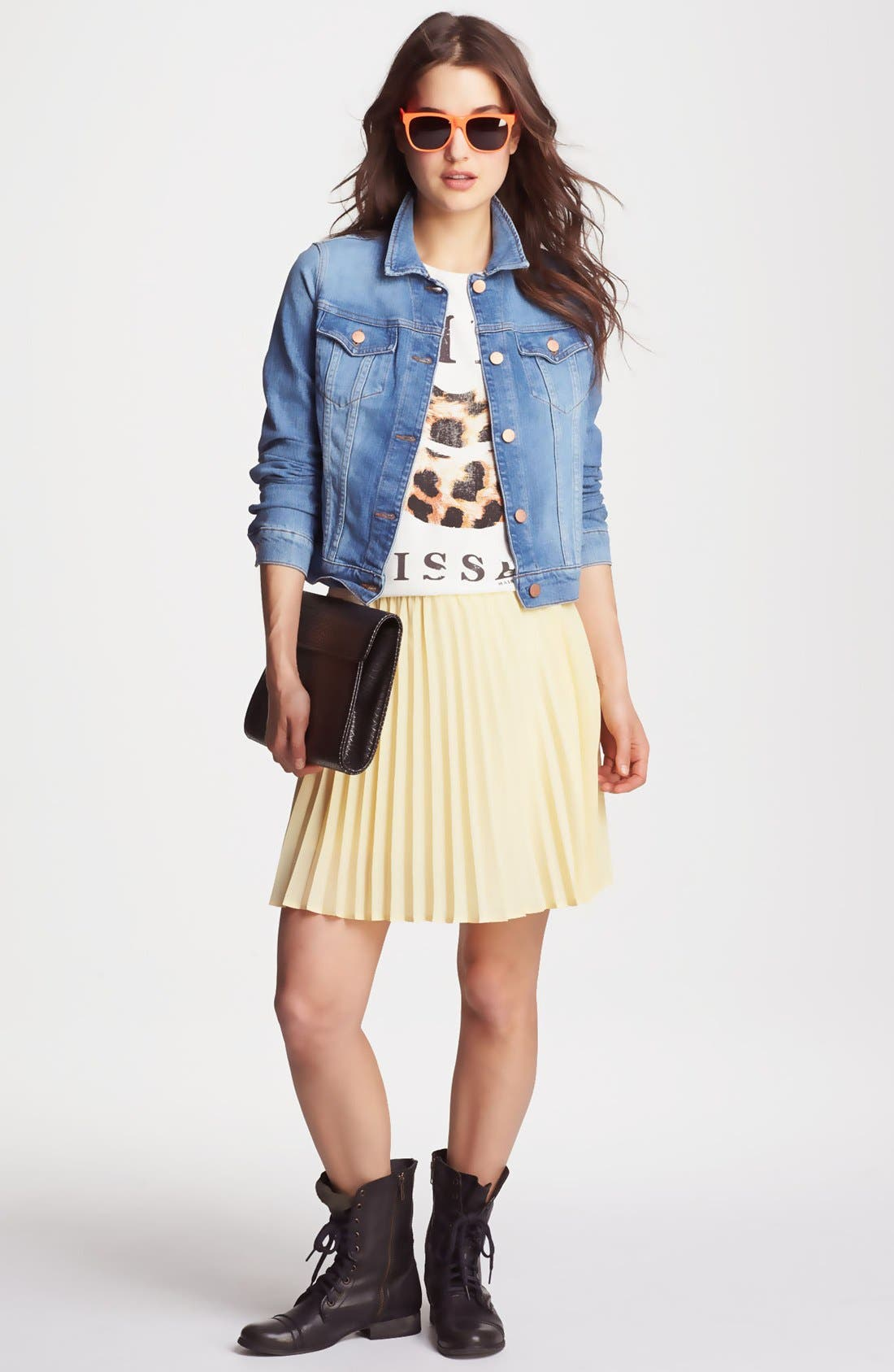 Alternate Image 1 Selected - J Brand Jacket, Maison Scotch Tank, Willow & Clay Skirt