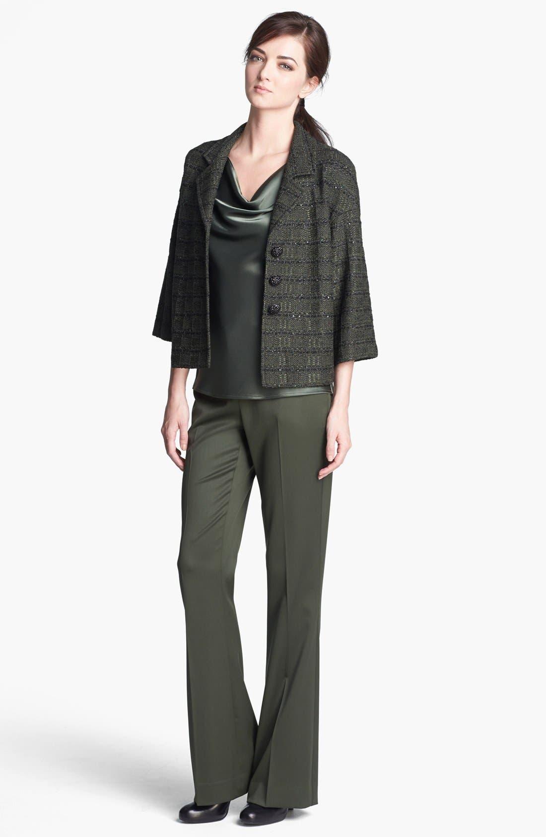 Alternate Image 2  - St. John Collection Sequin Tweed Knit Jacket