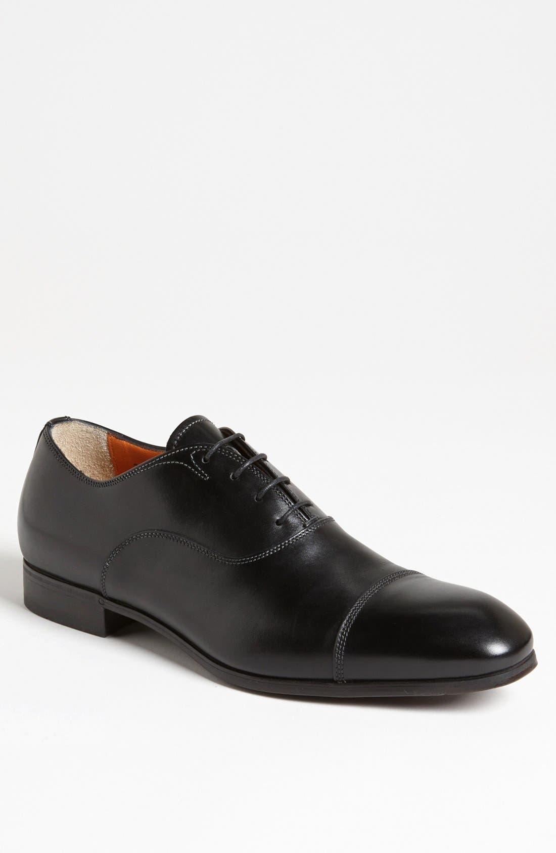 Alternate Image 1 Selected - Santoni Salem Cap Toe Oxford (Men)