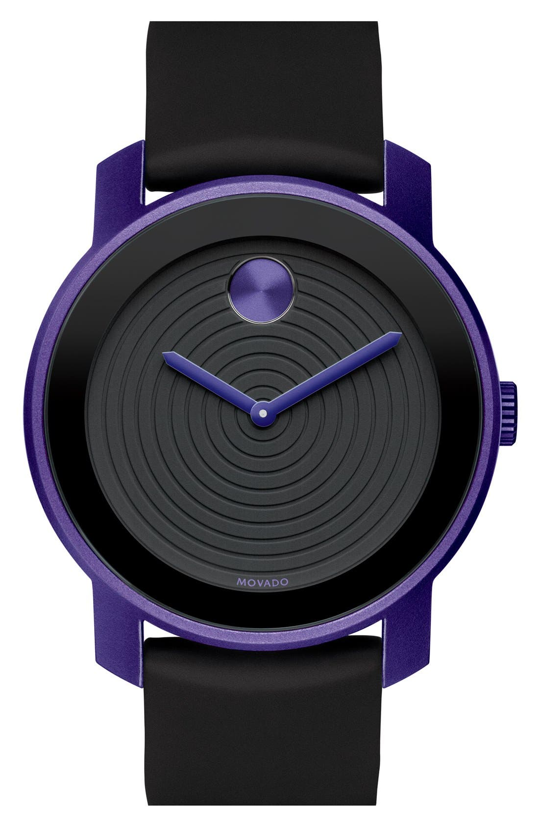 Main Image - Movado 'Large Bold' Silicone Strap Watch, 44mm