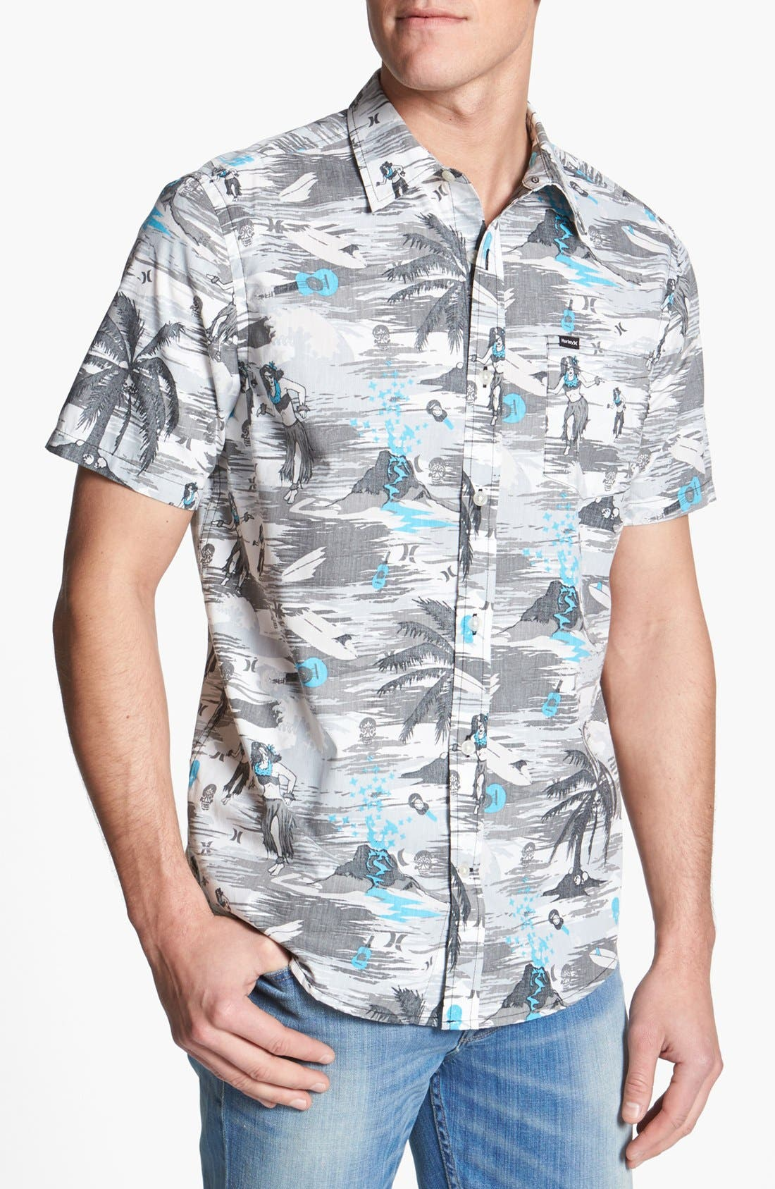 Alternate Image 1 Selected - Hurley 'Suarez' Print Woven Shirt