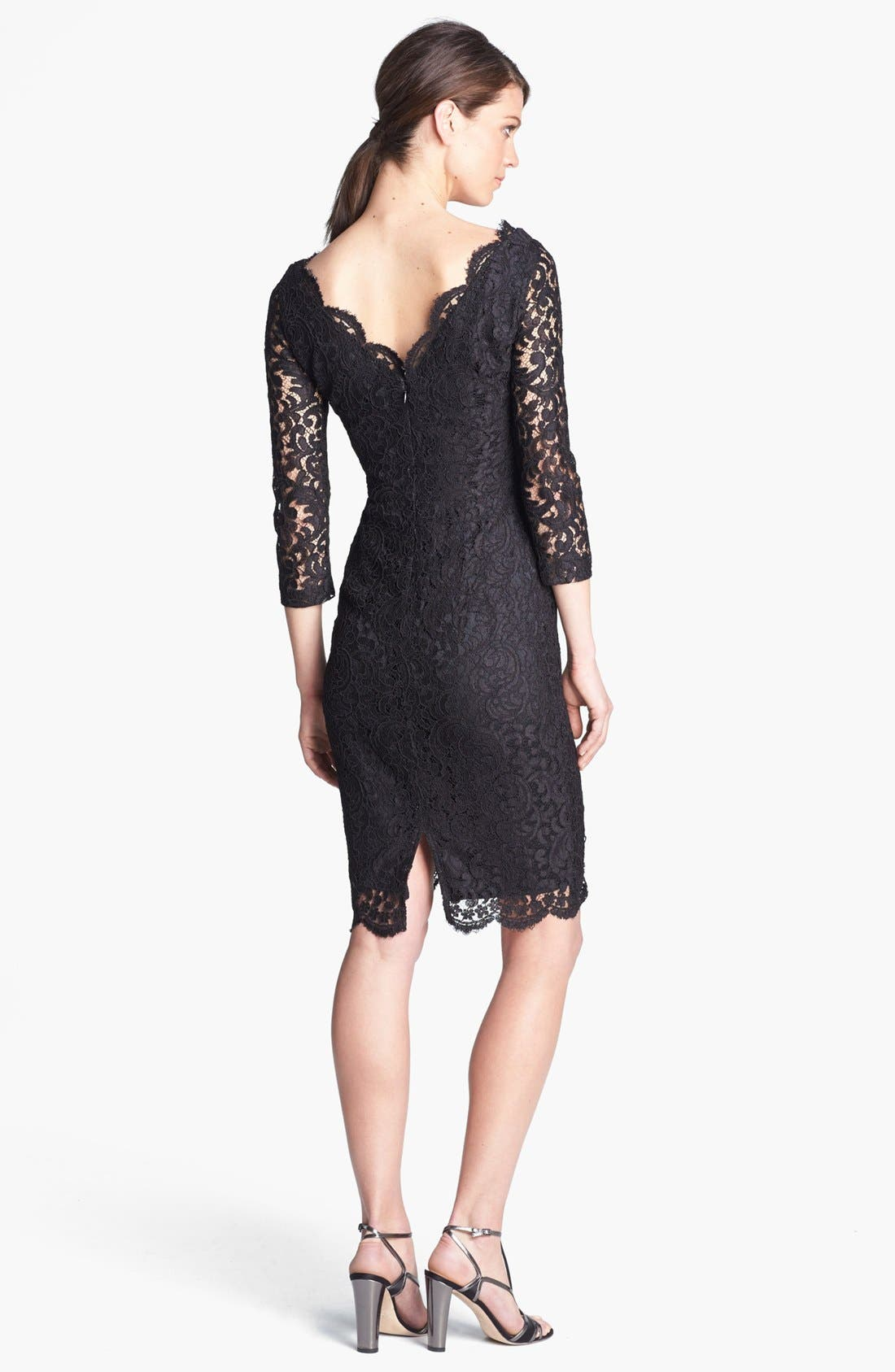 Alternate Image 2  - St. John Collection Plume Lace Dress
