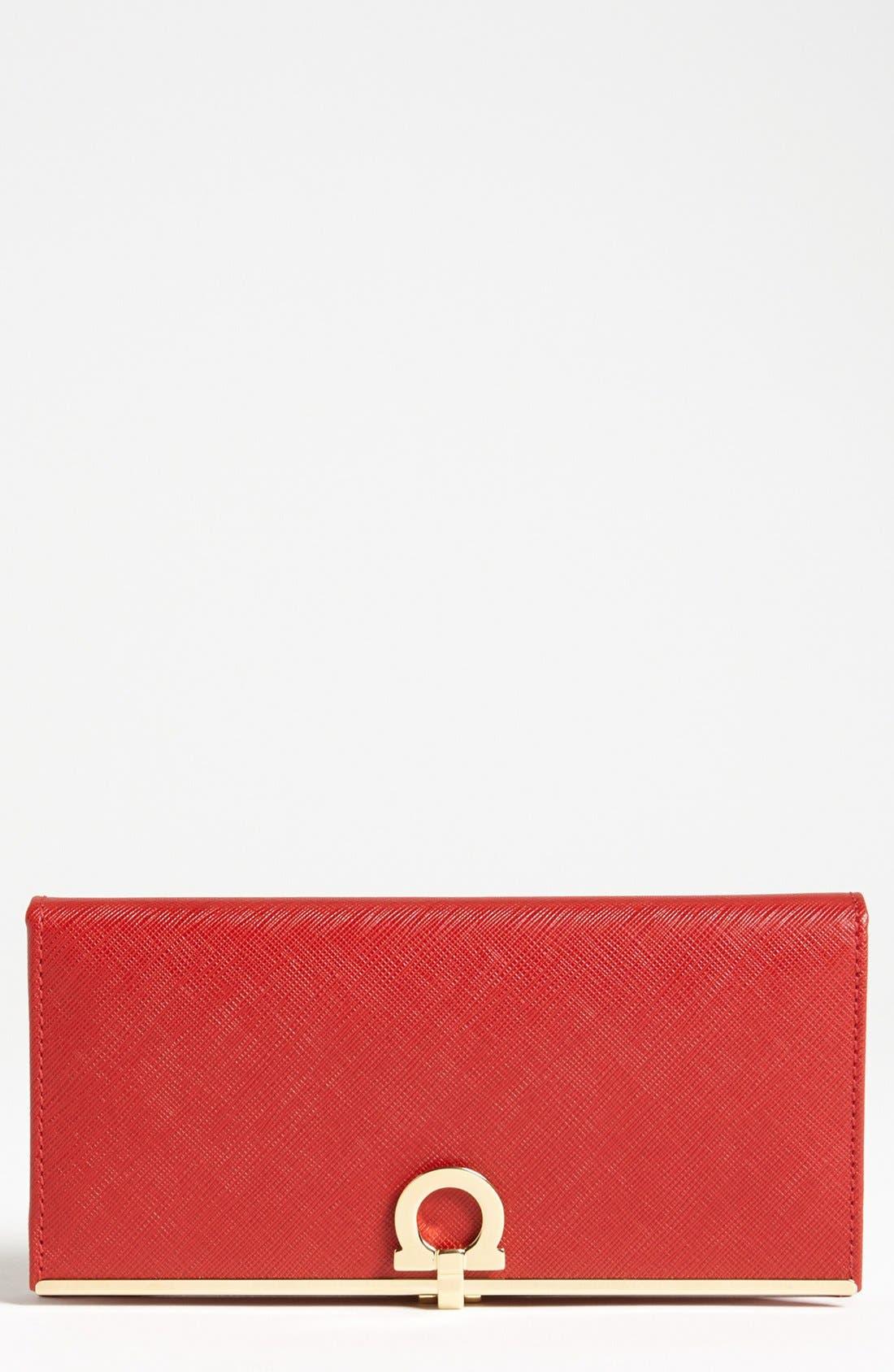 SALVATORE FERRAGAMO Saffiano Leather Wallet