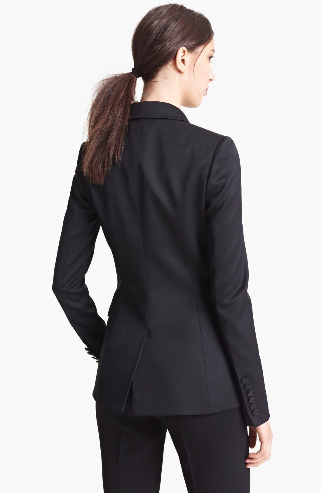 Alternate Image 2  - Burberry Prorsum Moiré Collar Jacket