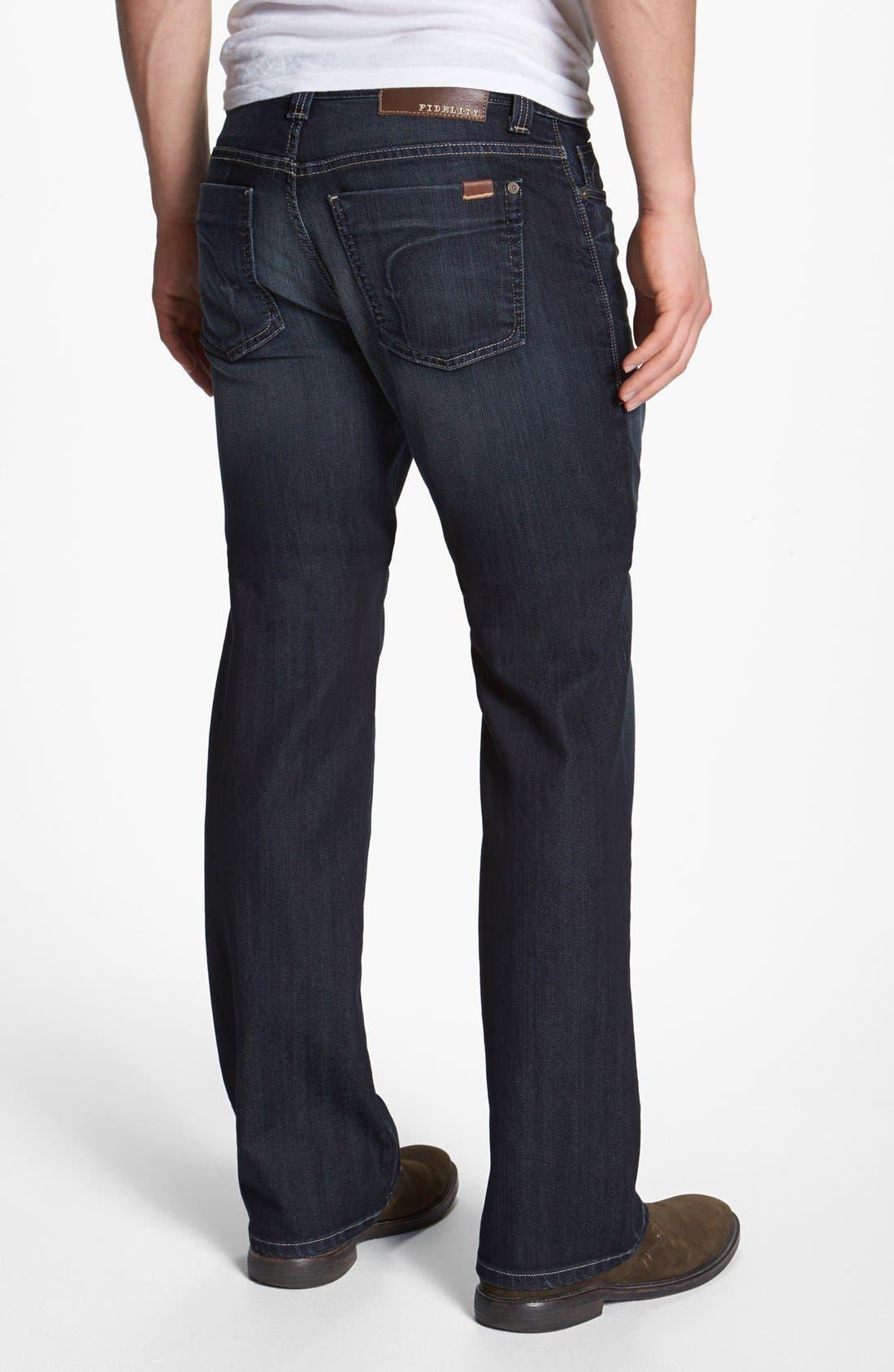 Alternate Image 2  - Fidelity Denim 'Camino' Relaxed Leg Jeans (Trigger Marx)