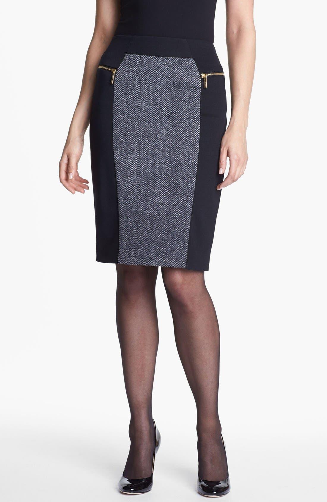 Alternate Image 1 Selected - MICHAEL Michael Kors Colorblock Ponte Skirt