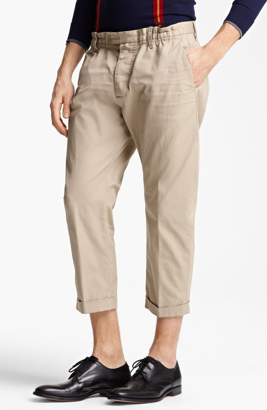 Alternate Image 1 Selected - Dsquared2 'Big Dean's Brother' Cropped Twill Pants