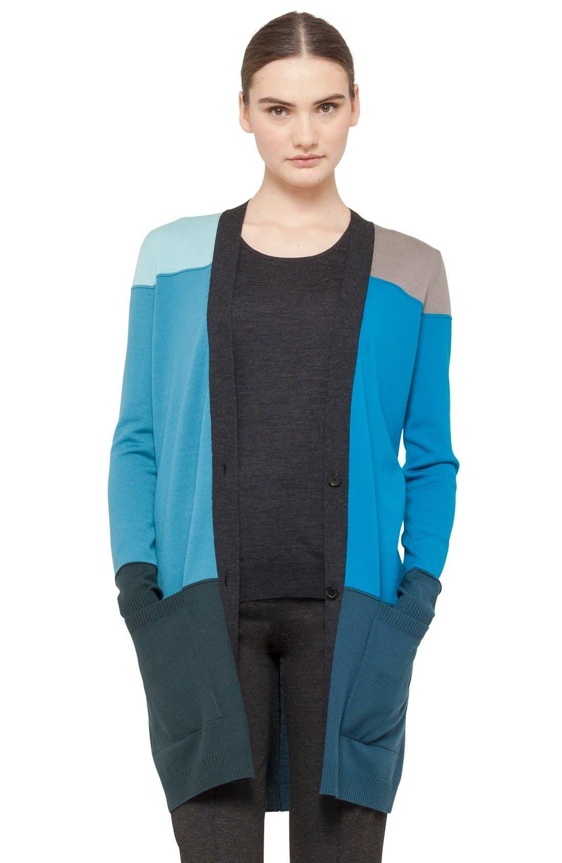 Main Image - Akris punto Intarsia Knit Wool Cardigan