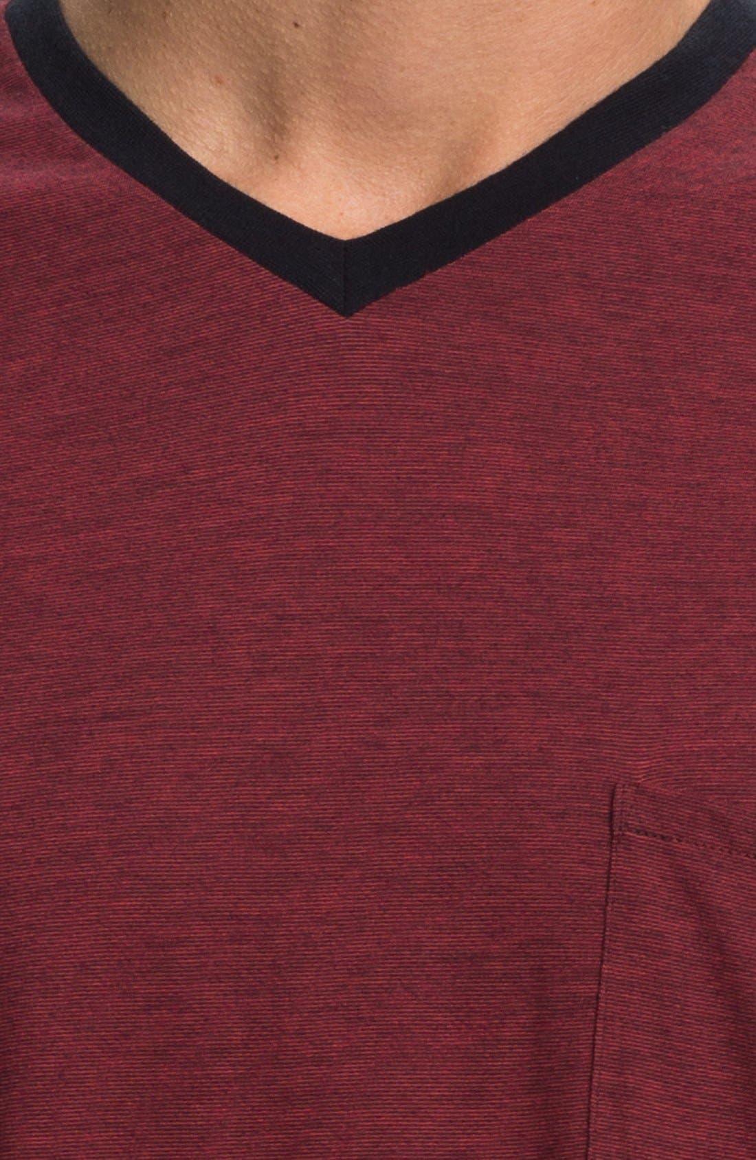 Alternate Image 3  - Daniel Buchler Pima Cotton & Modal V-Neck T-Shirt