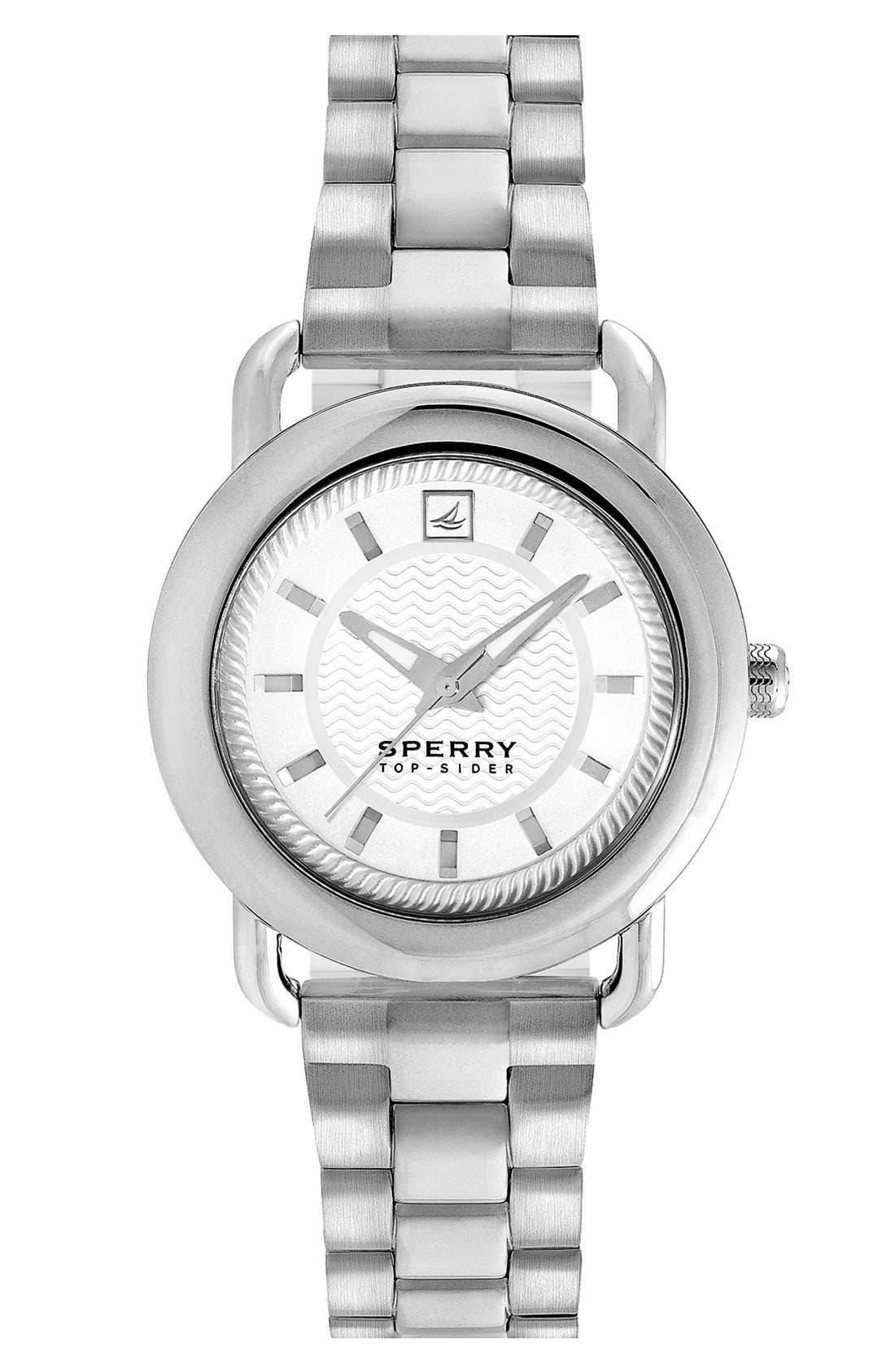 Alternate Image 1 Selected - Sperry Top-Sider® 'Hayden' Round Bracelet Watch, 36mm