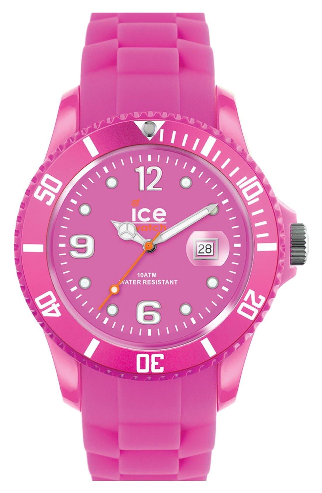 Main Image - ICE Watch 'Ice Flashy' Silicone Bracelet Watch, 43mm