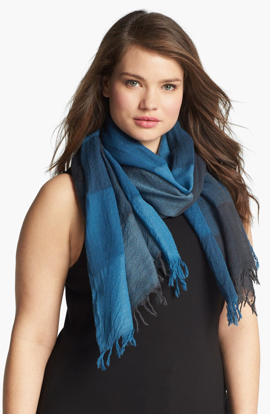 Main Image - Eileen Fisher Check Wool Scarf