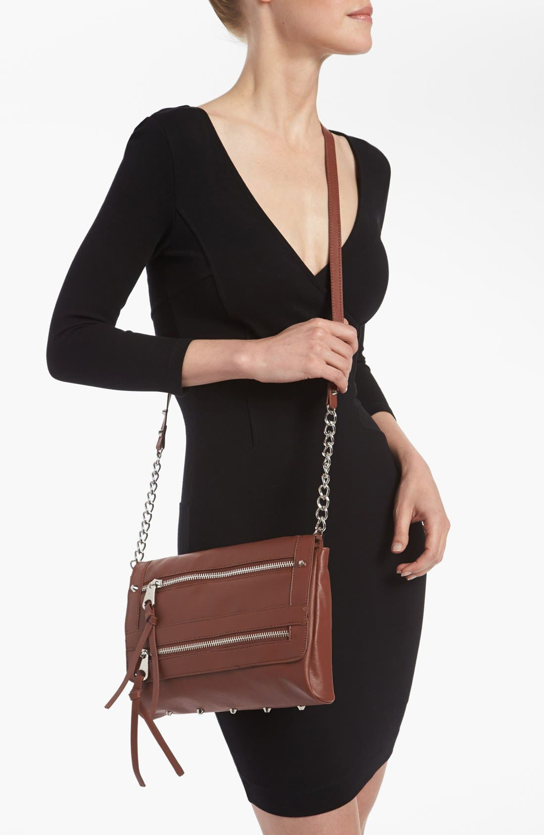 Alternate Image 2  - Cesca '15th Street' Faux Leather Crossbody Bag, Small (Juniors) (Online Only)