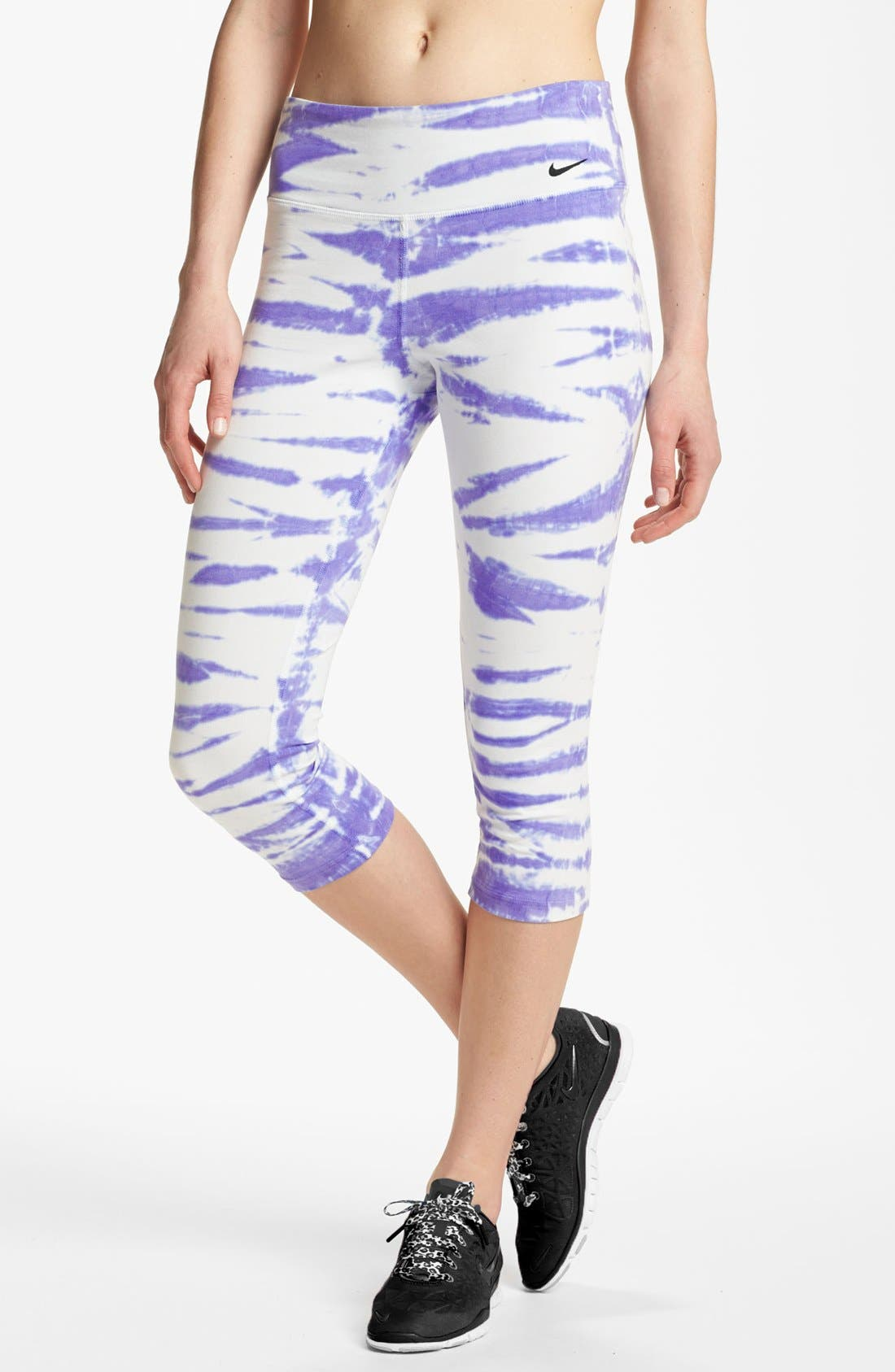 Alternate Image 1 Selected - Nike 'Twist Tie' Dri-FIT Cotton Capri Pants