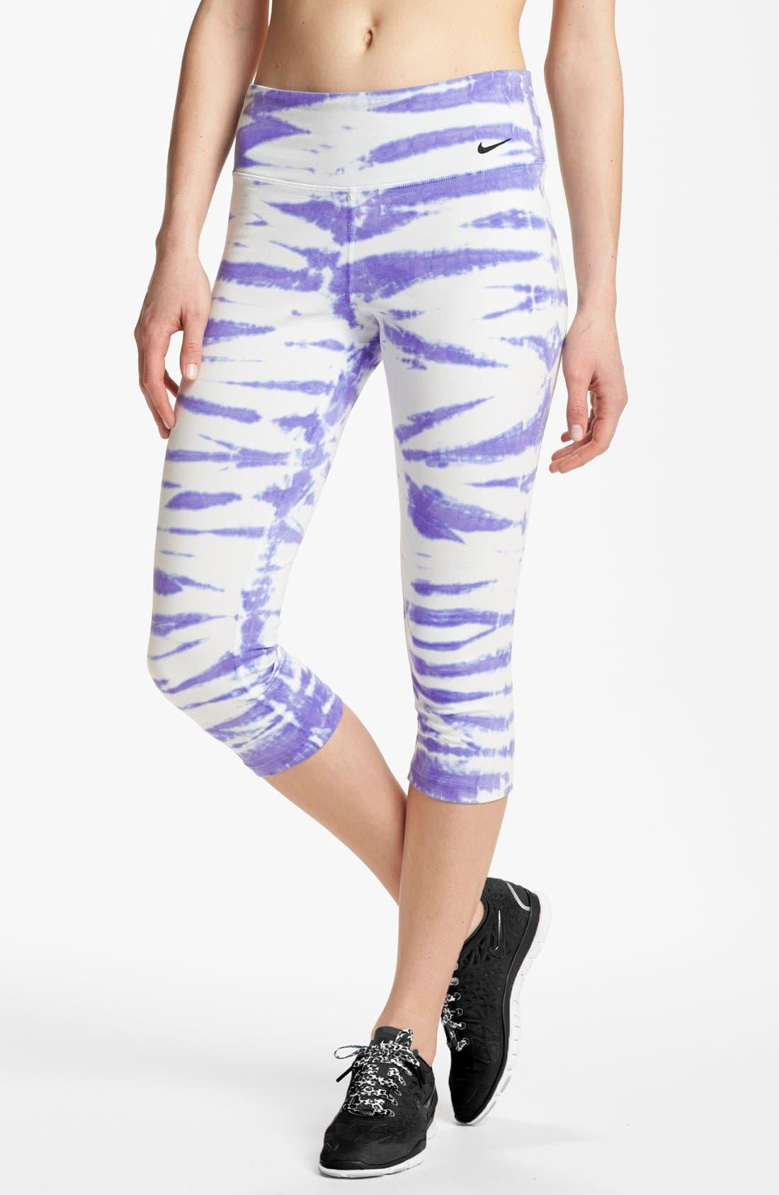 Main Image - Nike 'Twist Tie' Dri-FIT Cotton Capri Pants