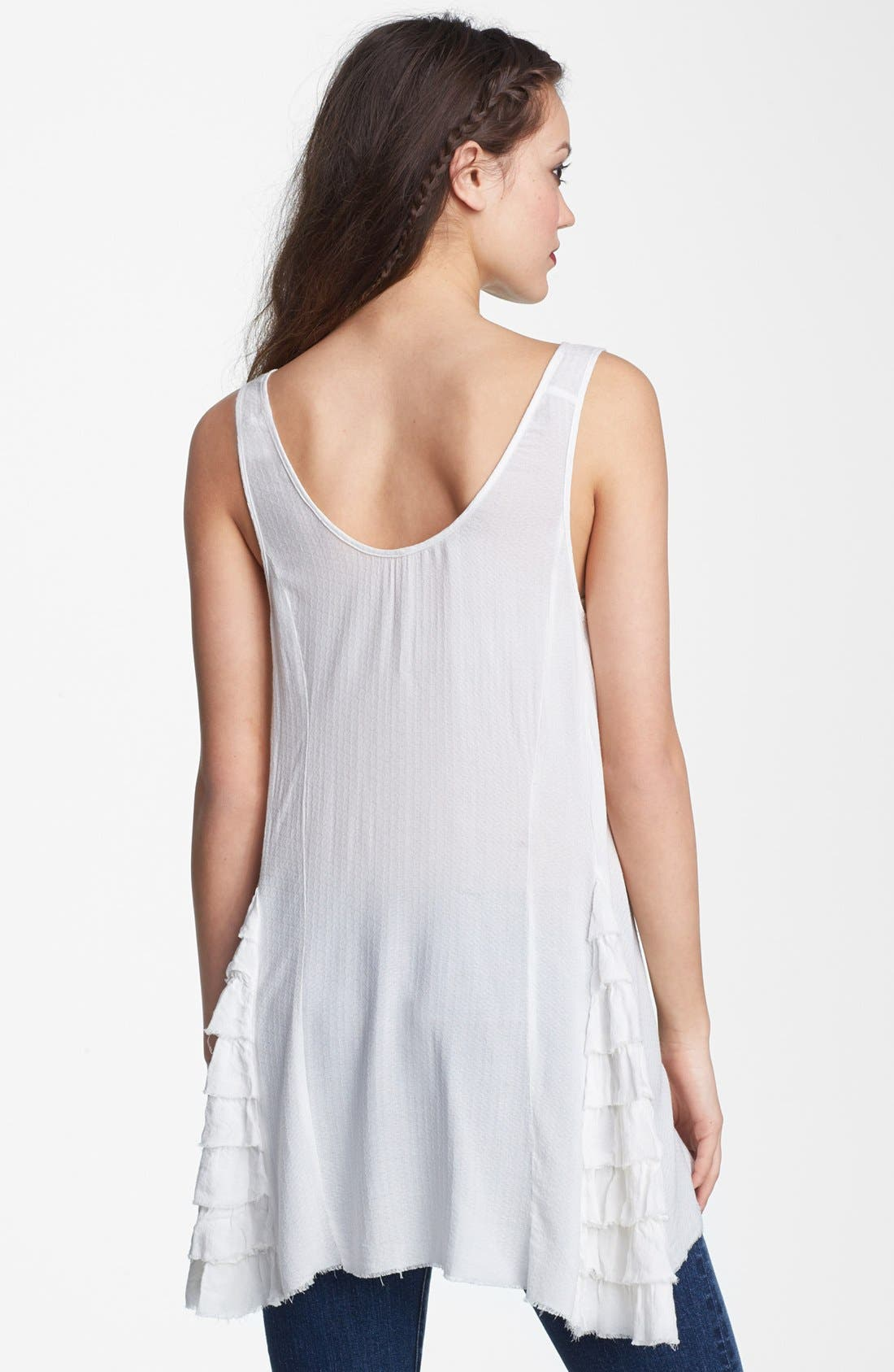 Alternate Image 2  - Free People Ruffled Woven Tank
