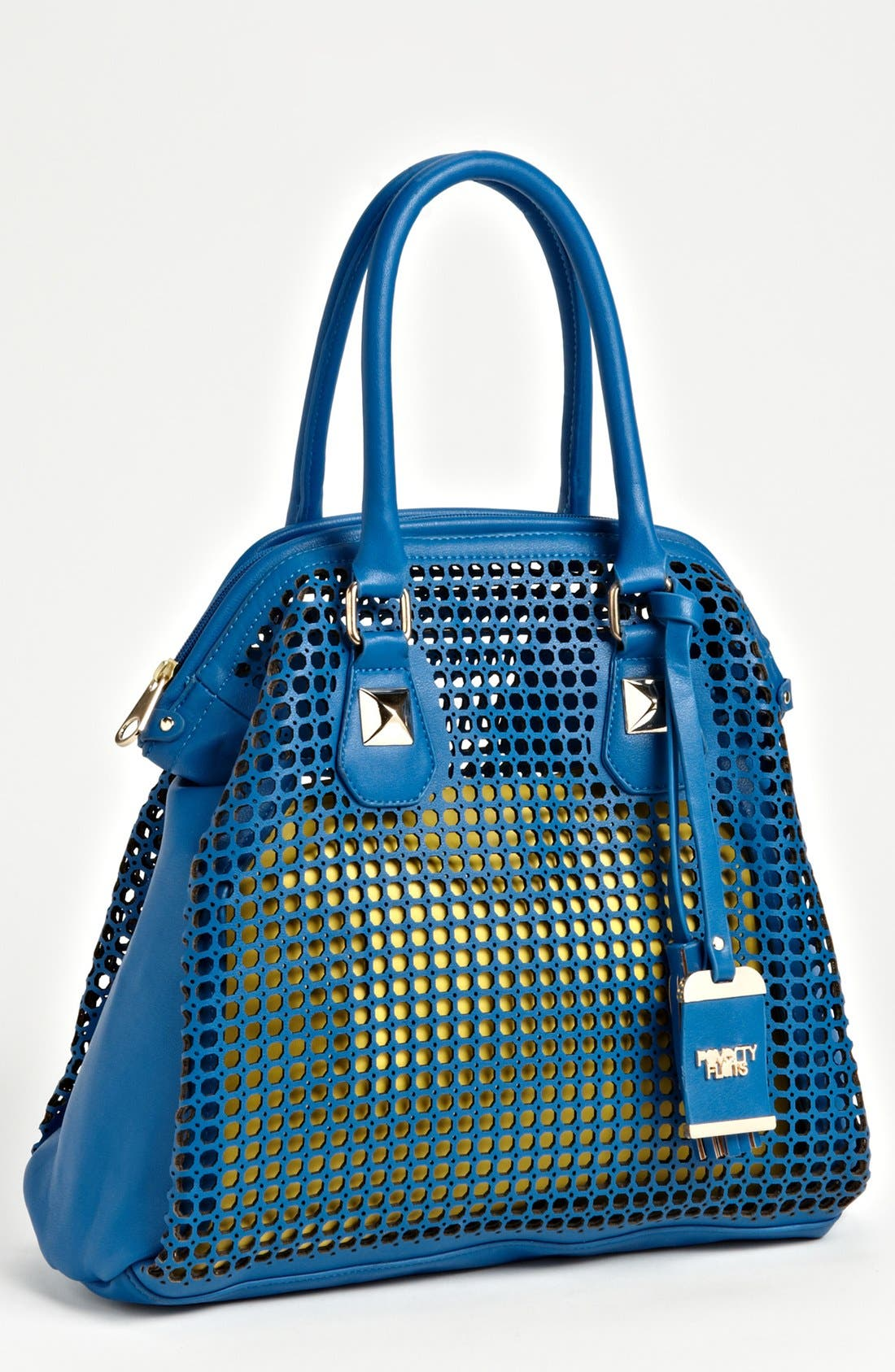 Alternate Image 1 Selected - POVERTY FLATS by rian Perforated Faux Leather Shoulder Bag