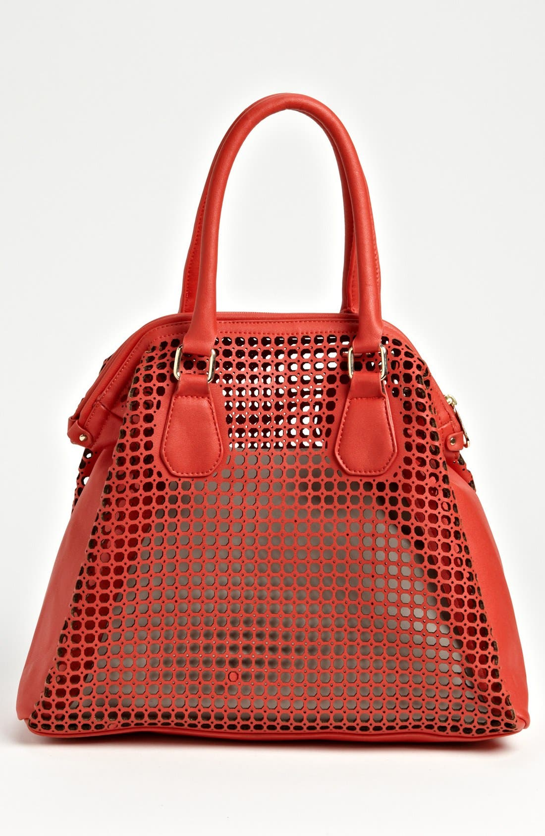 Alternate Image 3  - POVERTY FLATS by rian Perforated Faux Leather Shoulder Bag