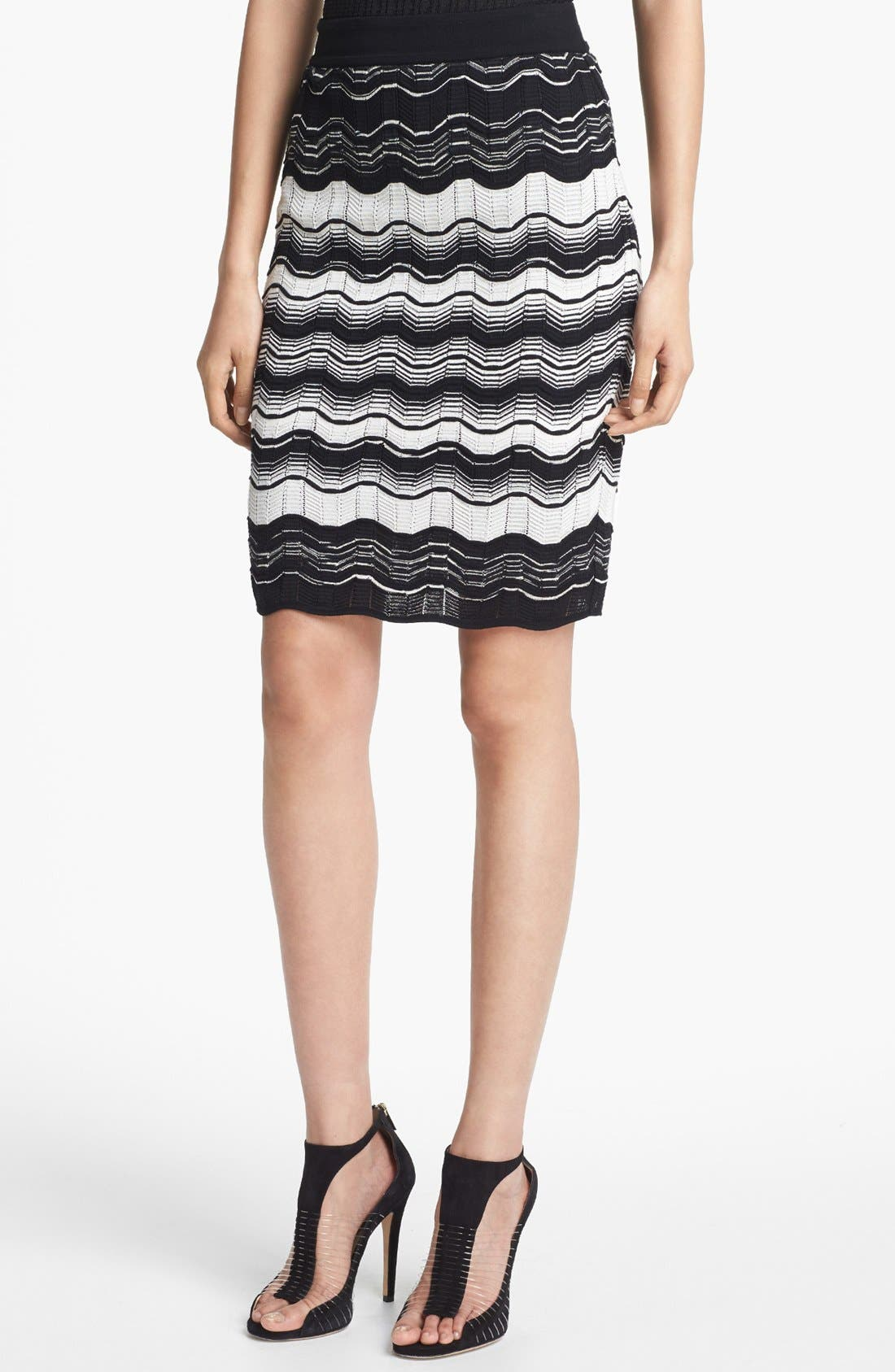 Main Image - M Missoni Greek Key Stripe Skirt