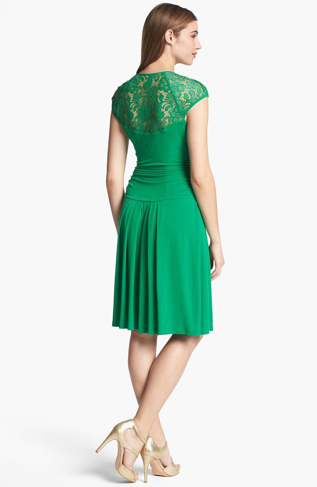 Alternate Image 2  - Ivy & Blu Lace Back Jersey Dress
