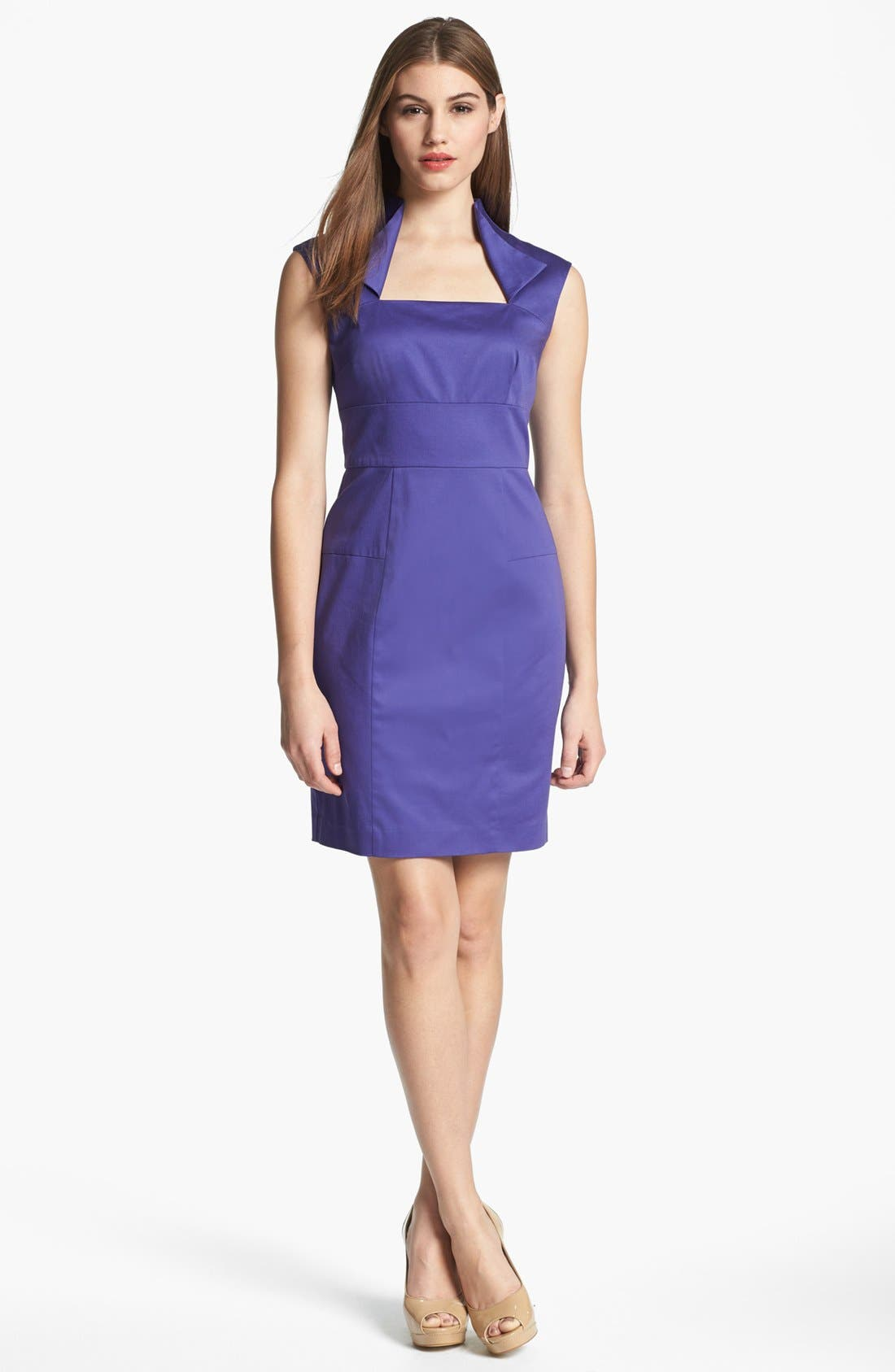 Main Image - Marc New York by Andrew Marc Satin Sheath Dress