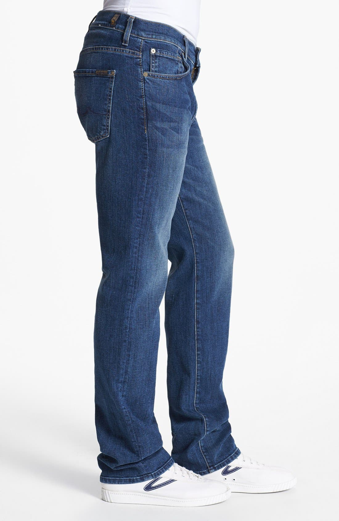 Alternate Image 3  - 7 For All Mankind® 'Carsen' Straight Leg Jeans (Tinted Authentic)