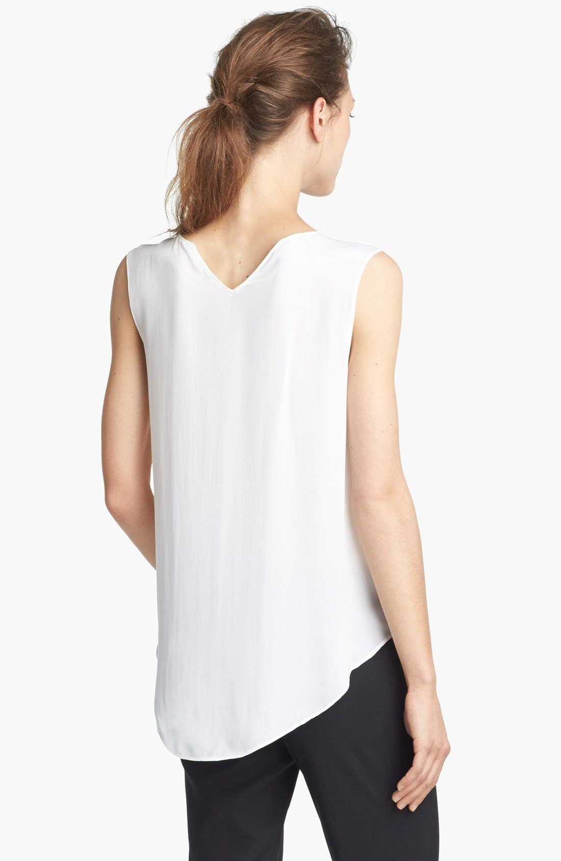 Alternate Image 3  - Theyskens' Theory 'Boomy Faloon' High/Low Silk Top