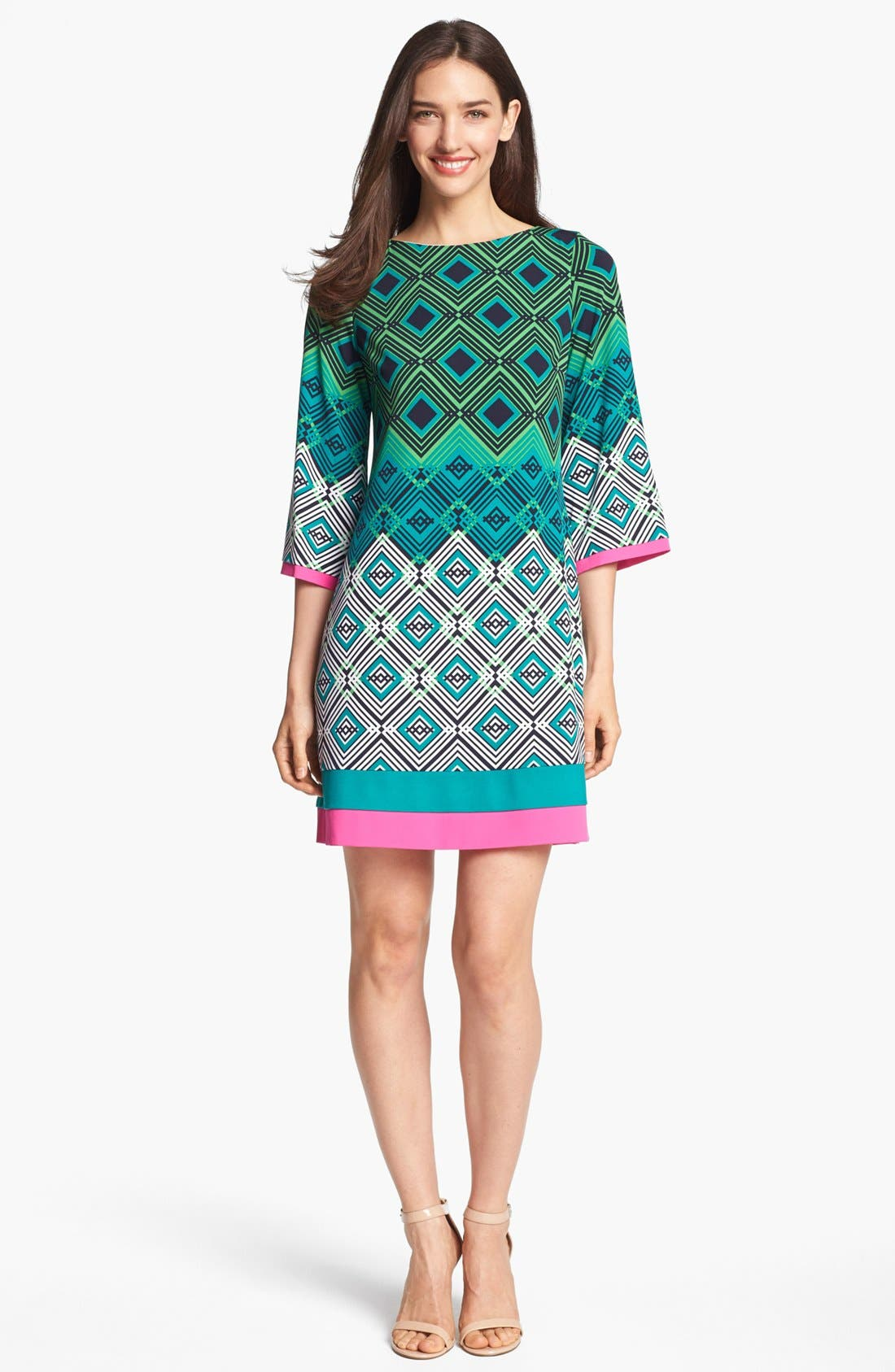 Main Image - Eliza J Print Jersey Shift Dress