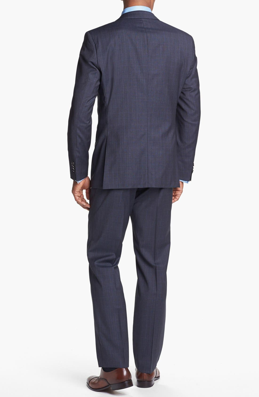 Alternate Image 3  - BOSS HUGO BOSS 'James/Sharp' Trim Fit Plaid Suit