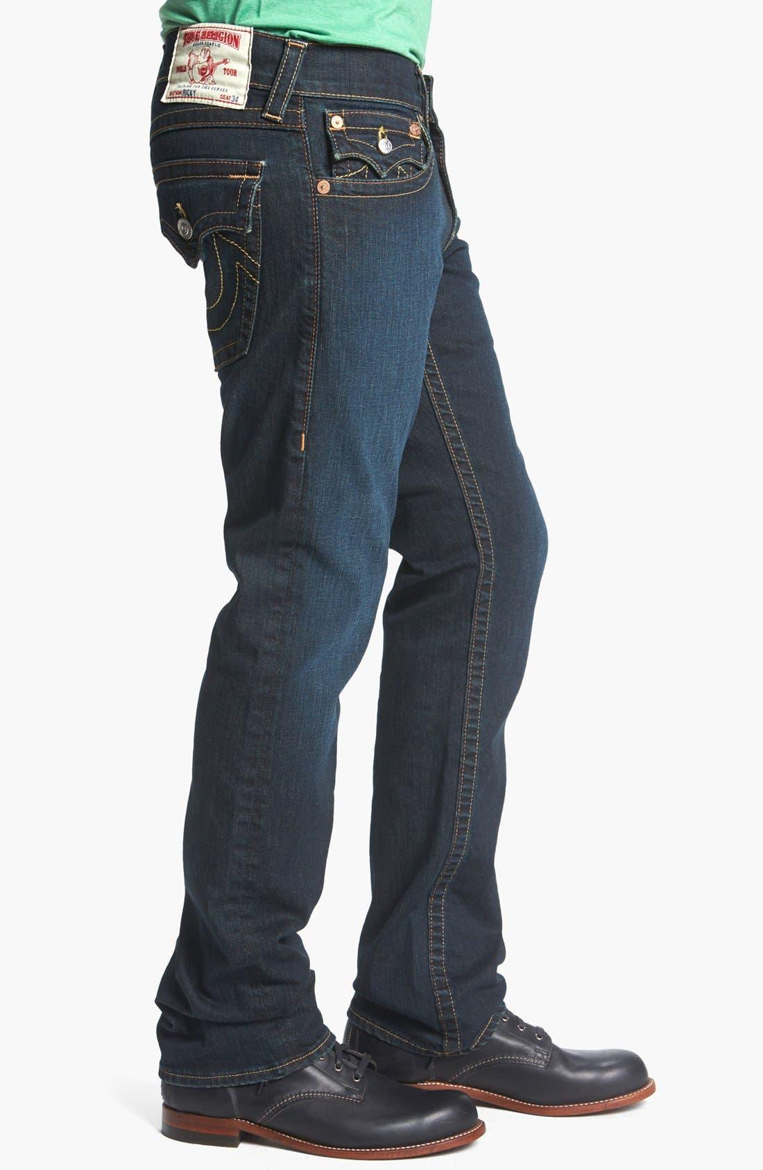 Alternate Image 3  - True Religion Brand Jeans 'Ricky' Straight Leg Jeans (Jackknife)