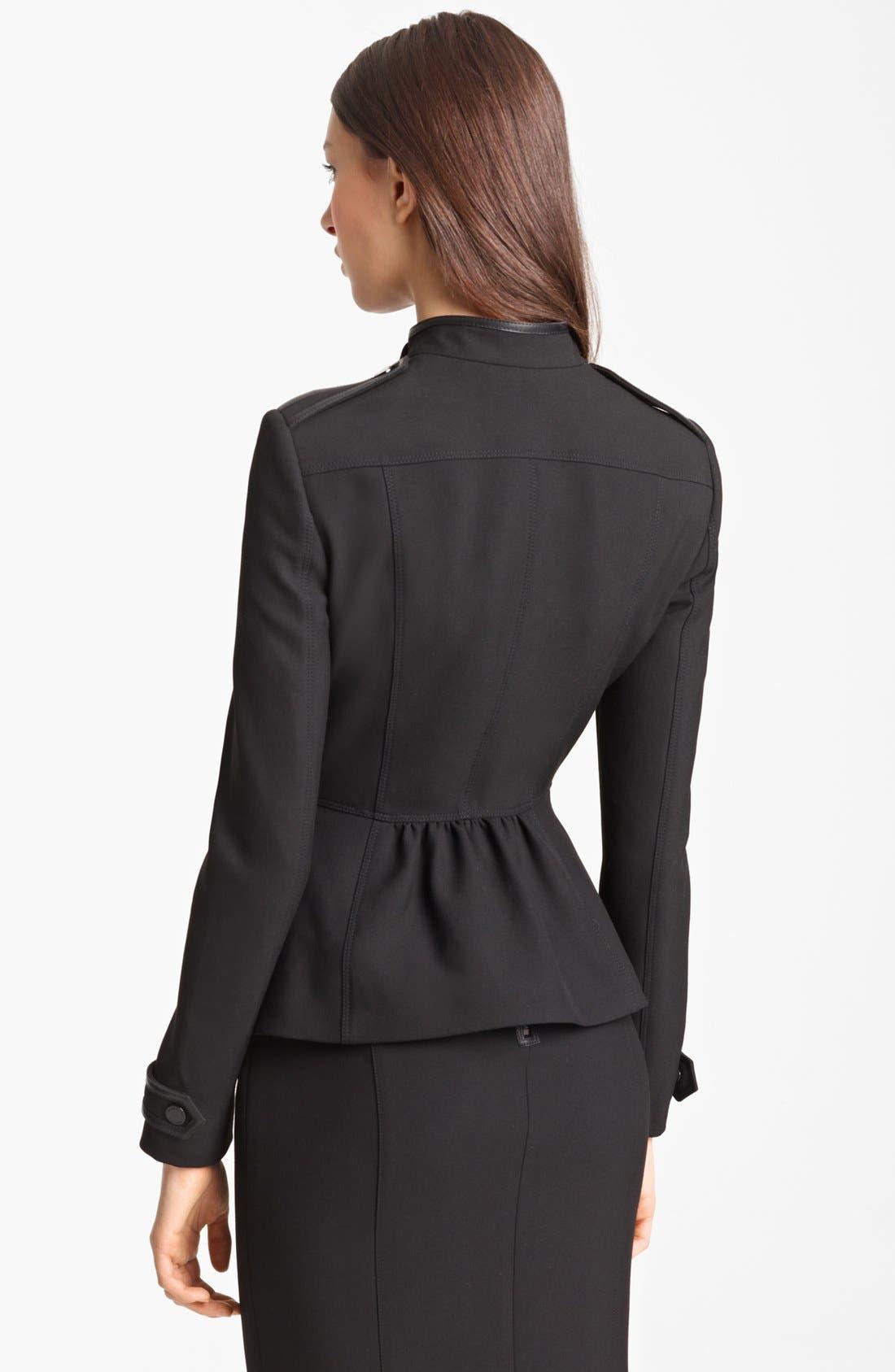 Alternate Image 3  - Burberry London Leather Trim Stretch Jersey Jacket