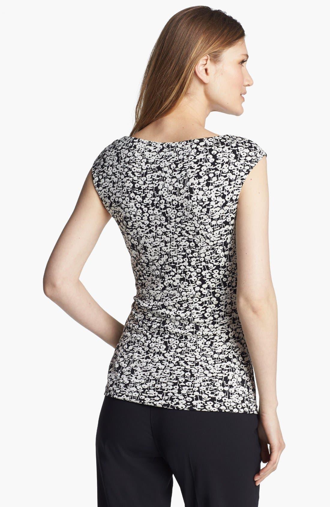 Alternate Image 2  - Classiques Entier® Pleat Neck Silk Blend Jersey Top