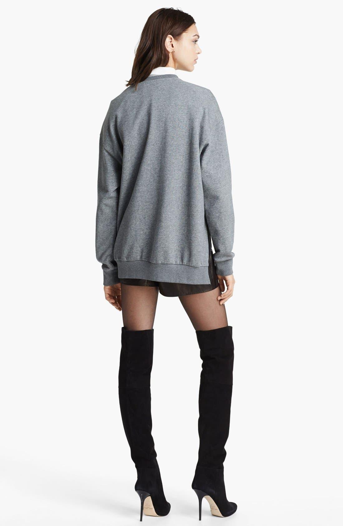 Alternate Image 4  - 3.1 Phillip Lim Quilted Phoenix Oversized Sweatshirt