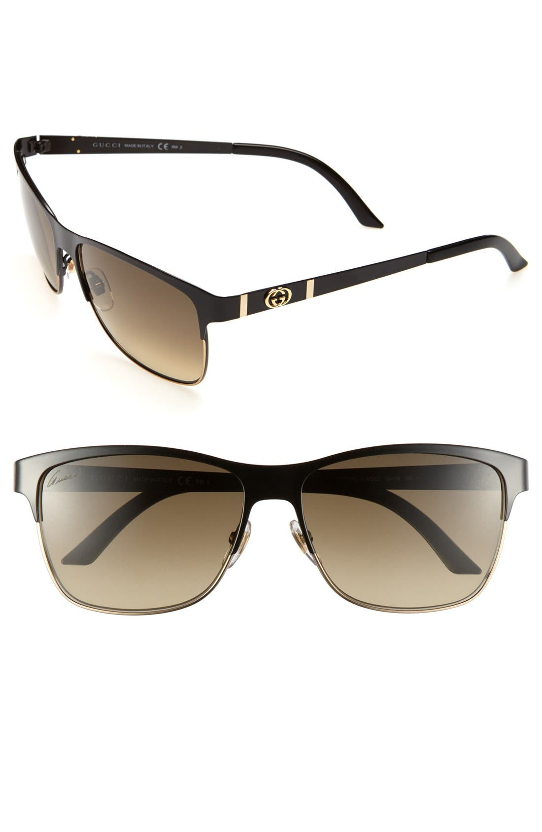 Alternate Image 1 Selected - Gucci 58mm Sunglasses