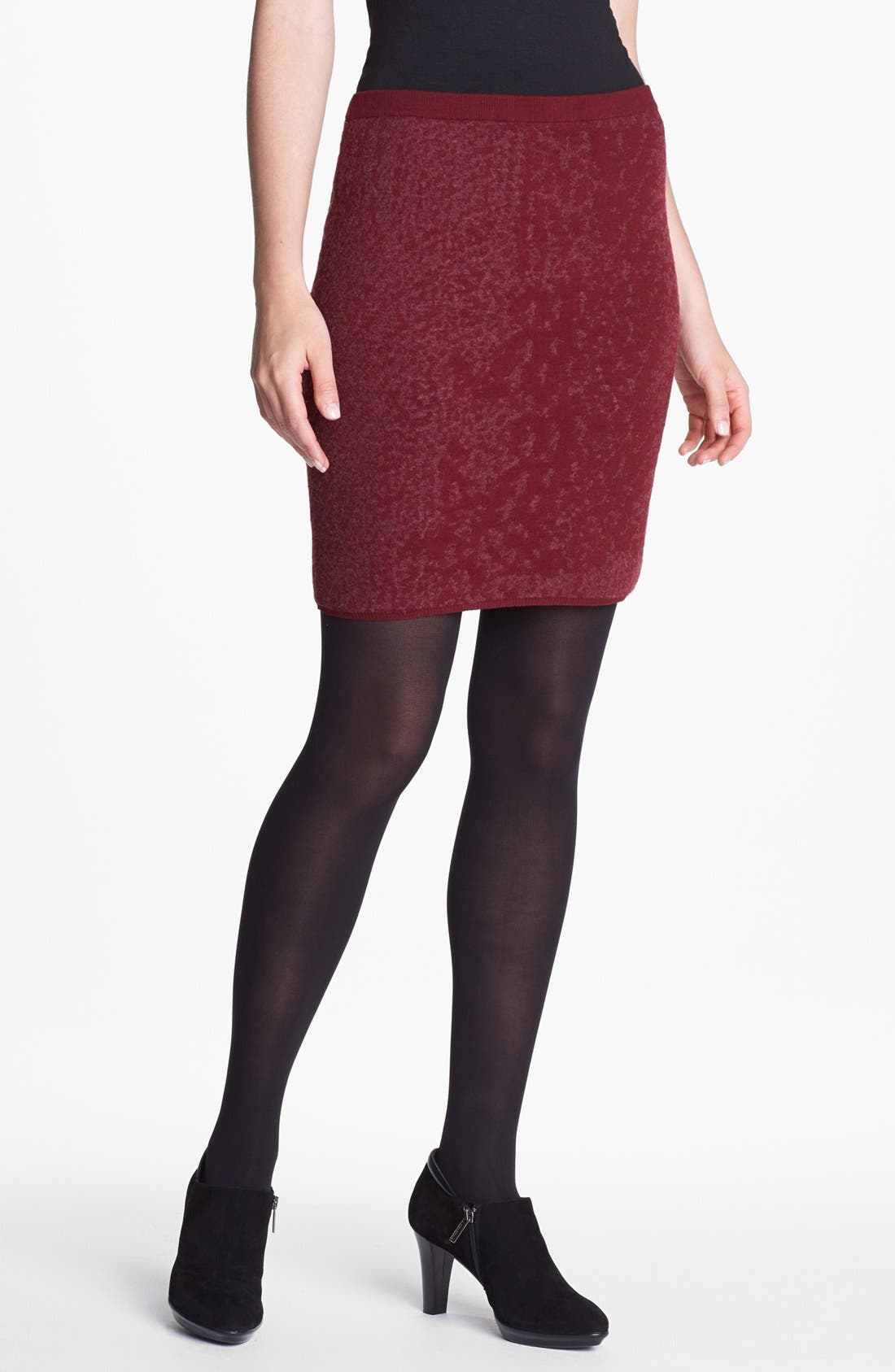 Main Image - Eileen Fisher Shadow Felted Merino Blend Skirt (Regular & Petite)