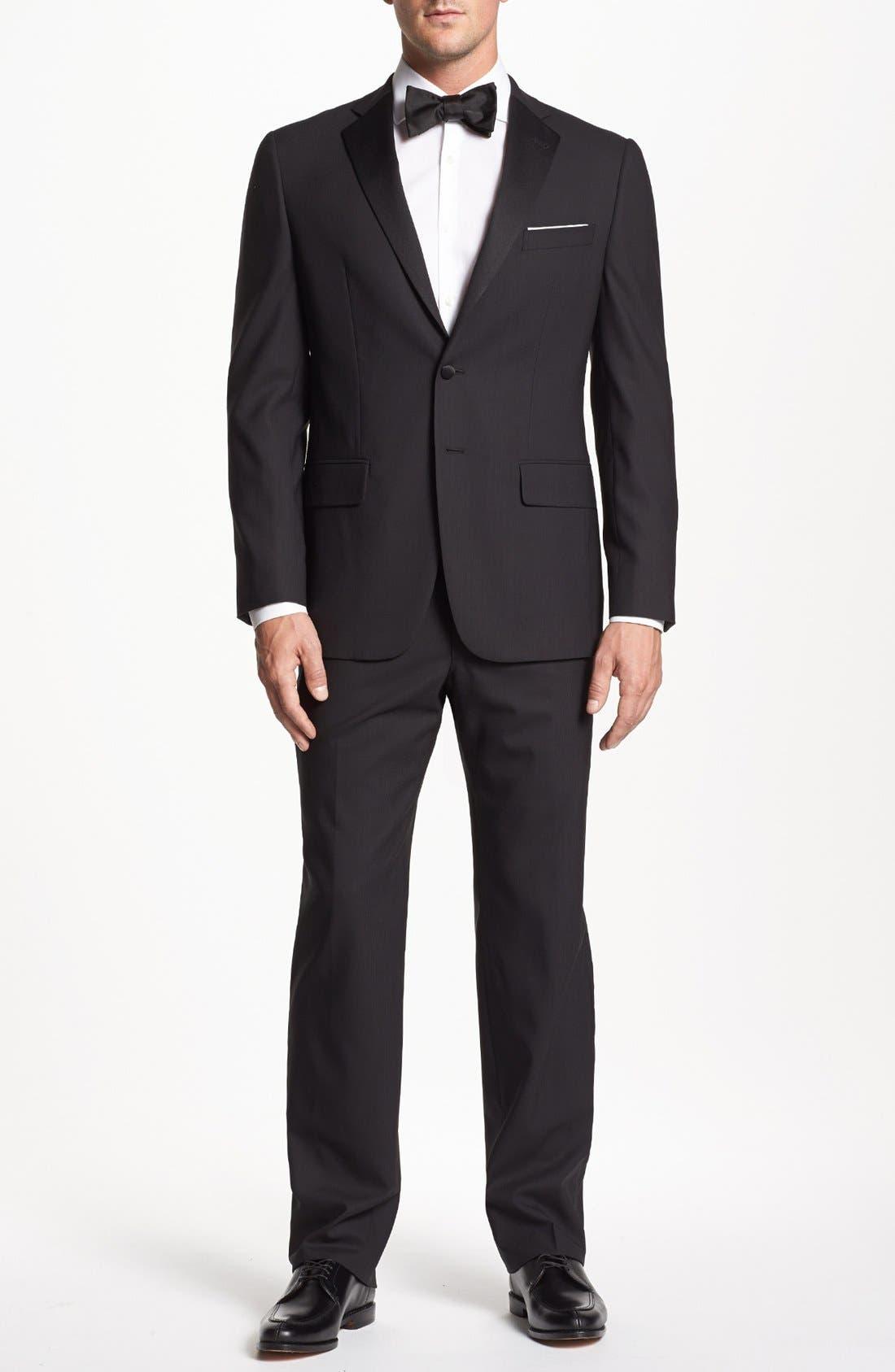 Main Image - Joseph Abboud 'Profile Hybrid' Trim Fit Wool Tuxedo (Online Only)