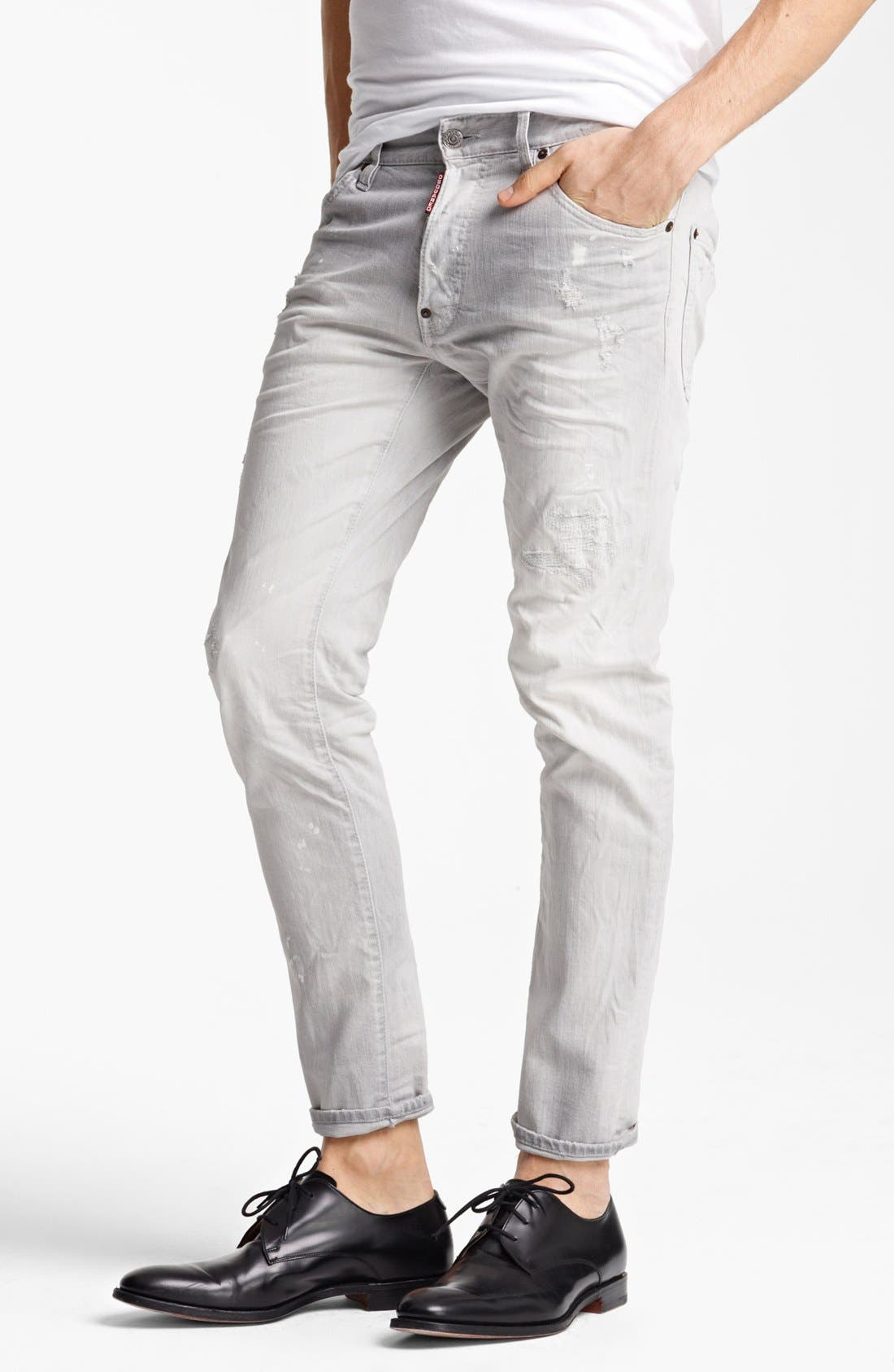 Alternate Image 1 Selected - Dsquared2 'Cool Guy' Skinny Fit Jeans (Grey)
