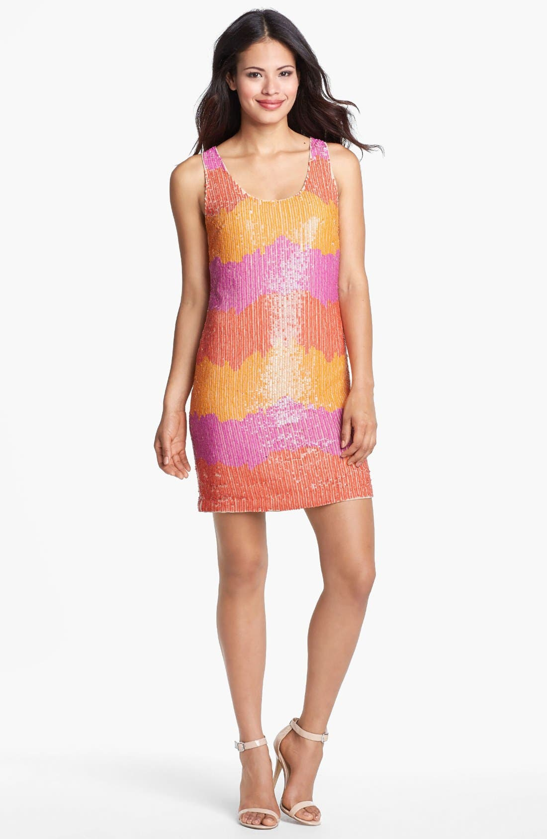 Main Image - Trina Turk 'Glitter' Sequin Tank Dress