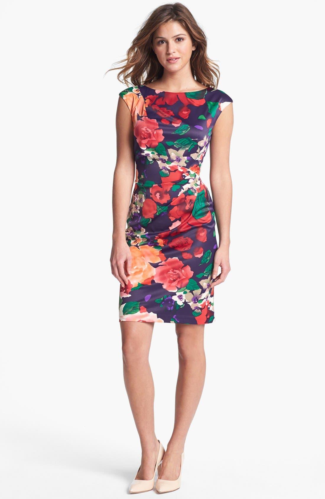 Main Image - Ivy & Blu Print Sheath Dress